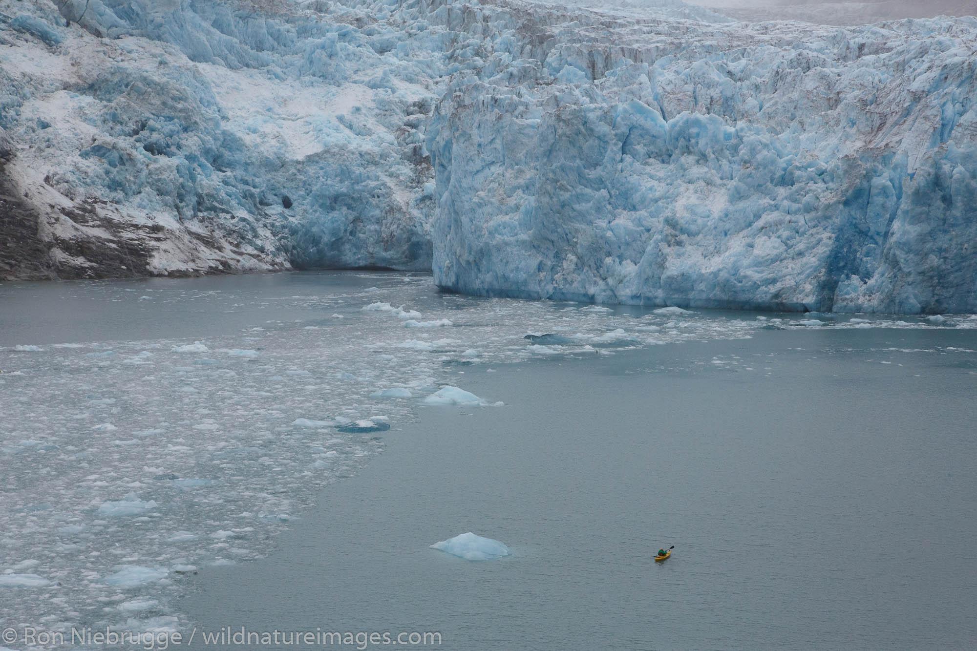 Kayaking in Prince William Sound, Chugach National Forest, Alaska.