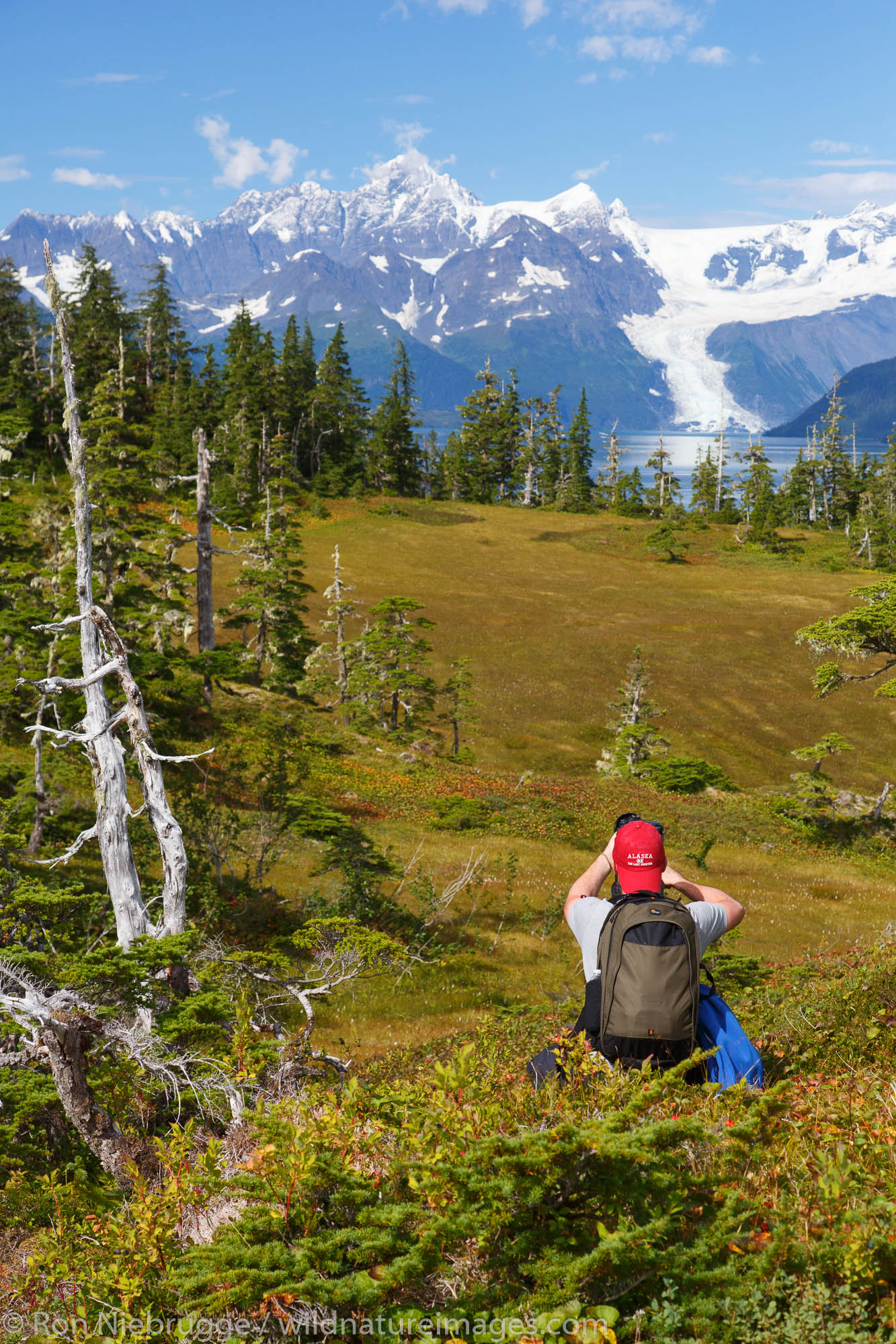 Photographers along Esther Passage and Port Wells, Prince William Sound, Chugach National Forest, Alaska