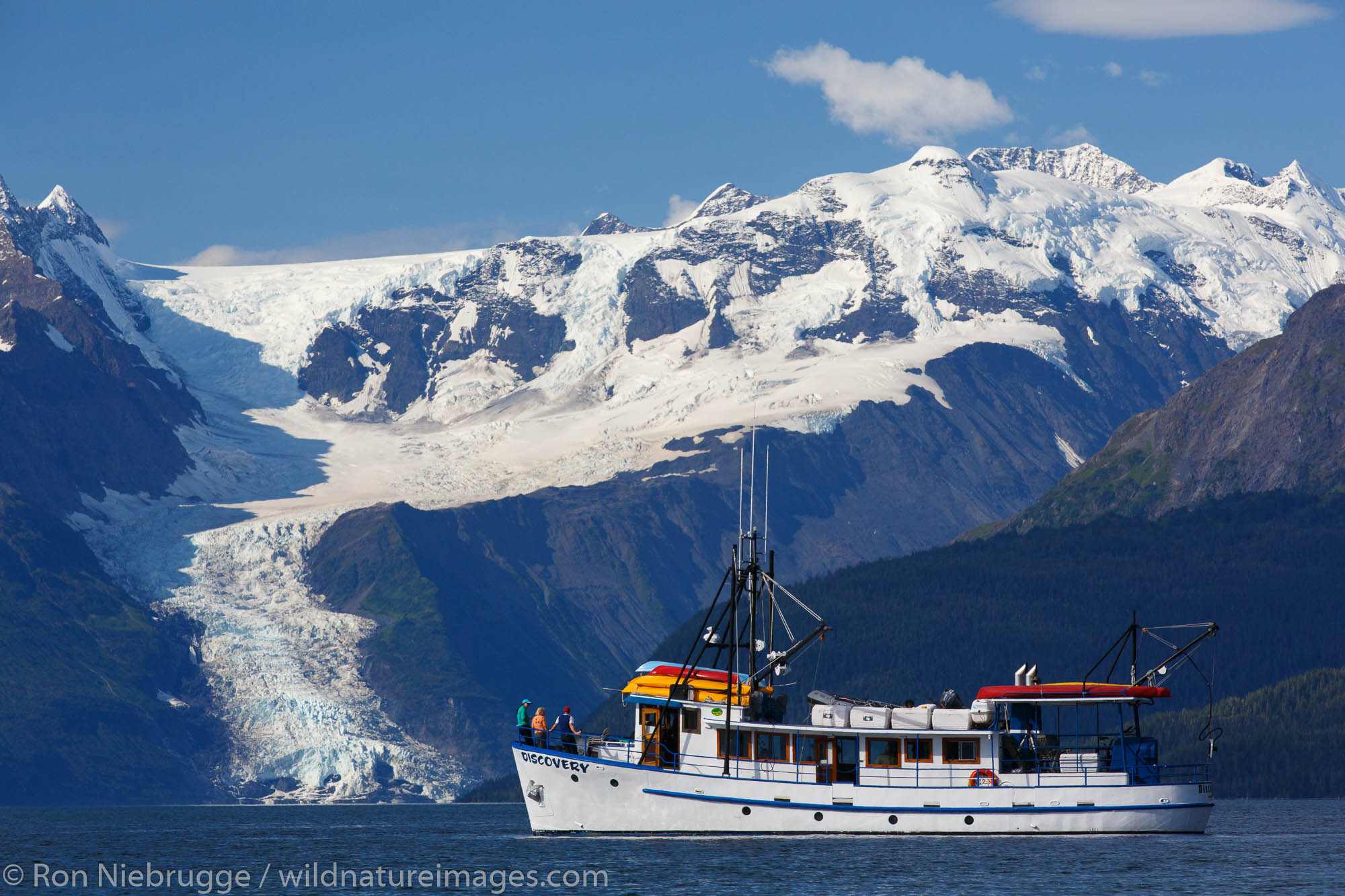 The M/V Discovery in Port Wells, Prince William Sound, Chugach National Forest, Alaska.