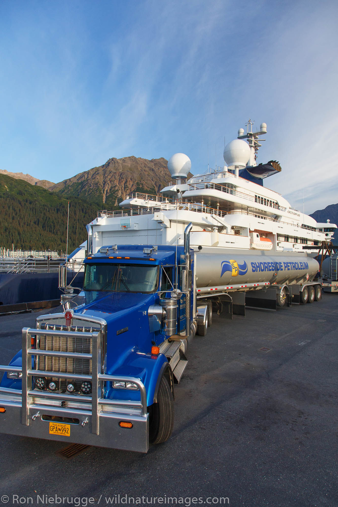 Shoreside Petroleum fueling the Octopus, Seward, Alaska.