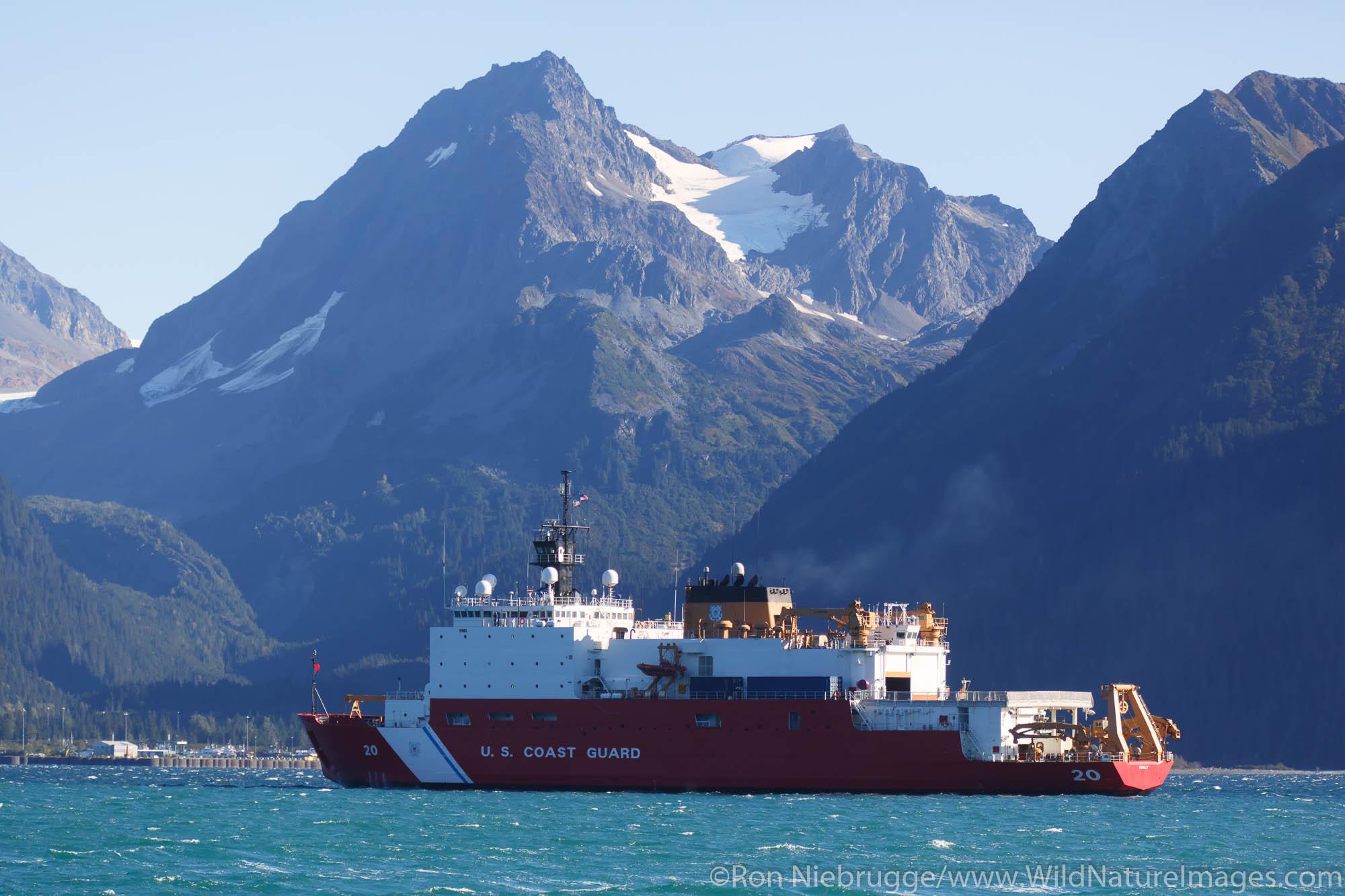 Coast Guard ship Healy, Resurrection Bay, Seward, Alaska.