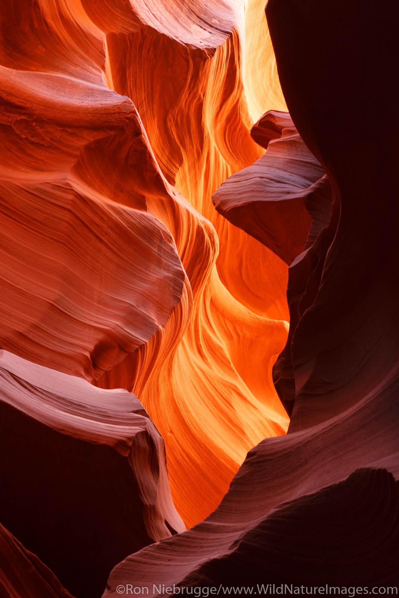 Lower Antelope Slot Canyon, Navajo Parkland, Page, Arizona.