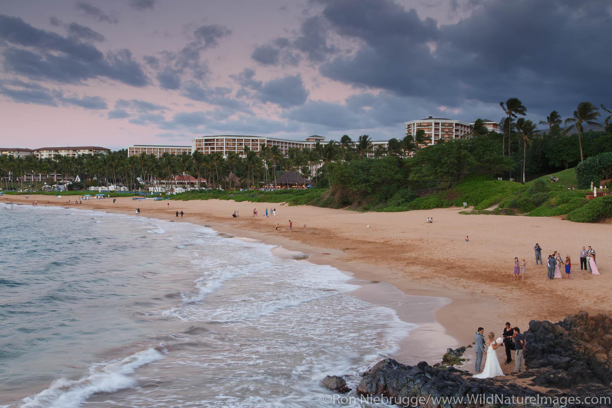 A wedding on Wailea Beach, Maui, Hawaii.