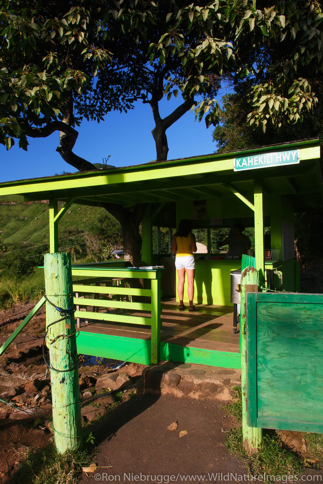 Julia's banana bread stand, Kahakuloa Village, Maui, Hawaii.