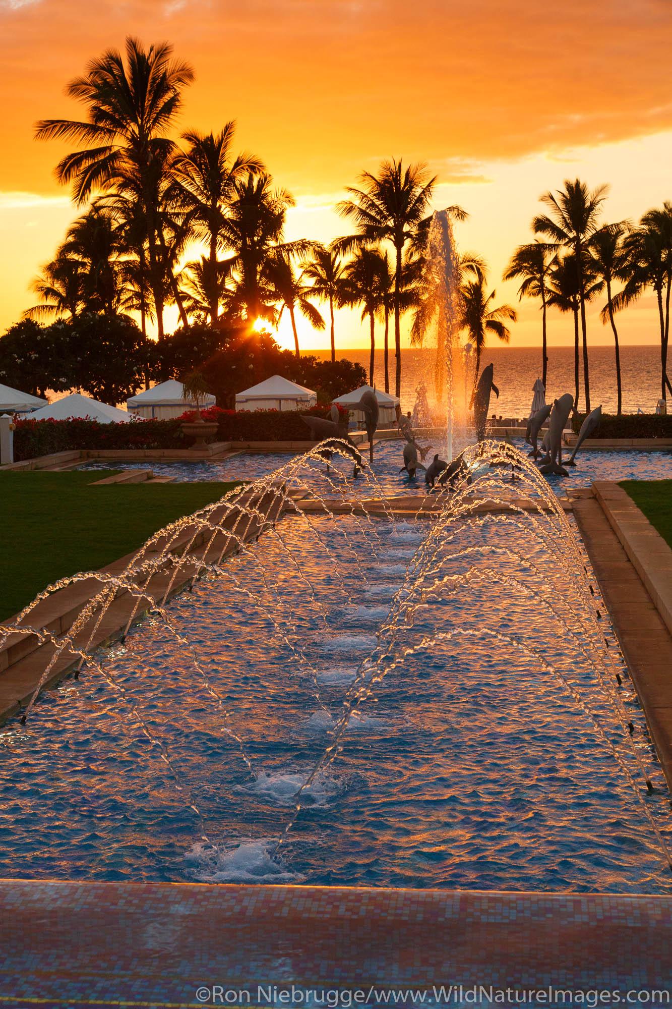 Sunset, Grand Wailea, Maui, Hawaii.