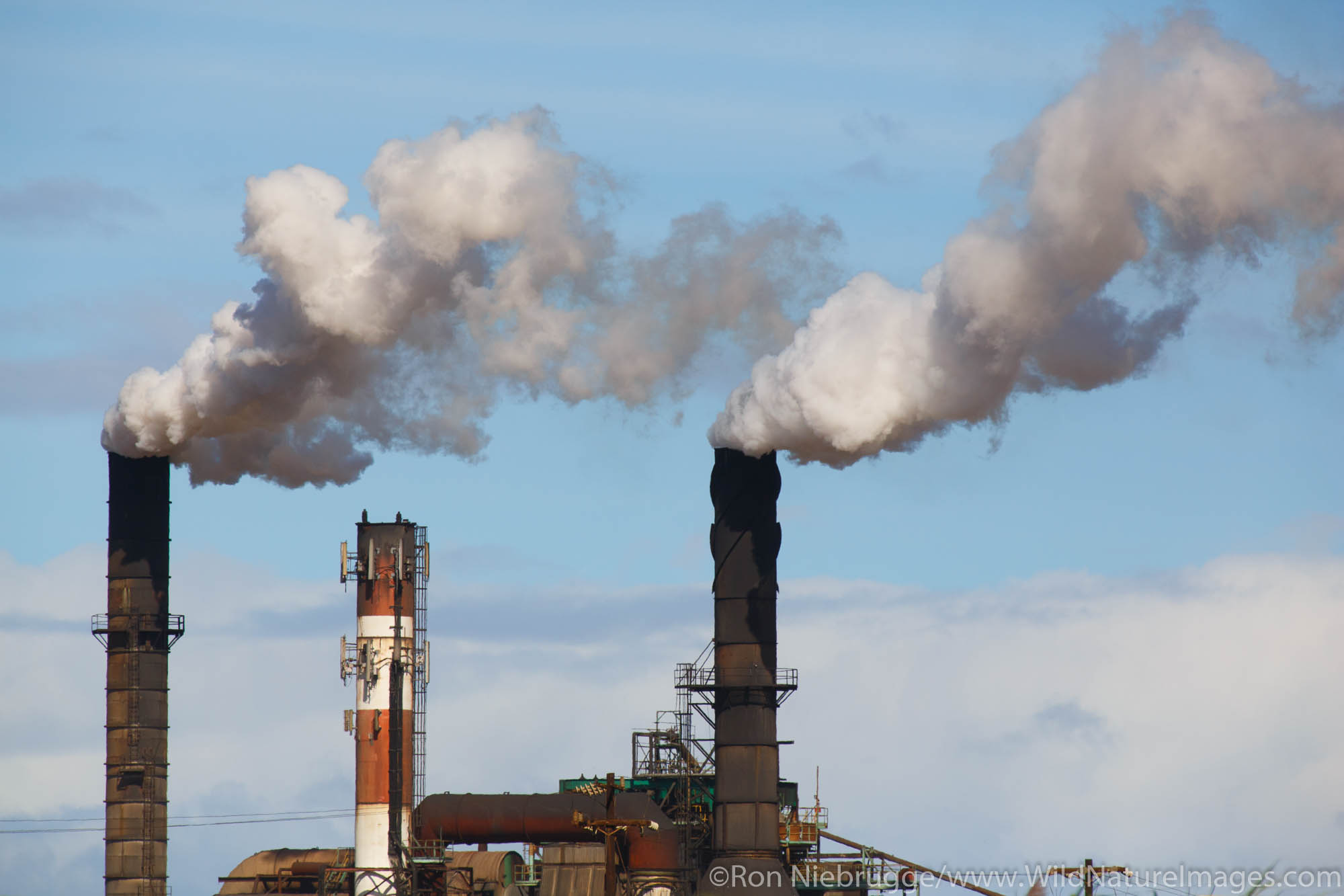 Emissions from Hawaiian Commercial and Sugar plant, Maui, Hawaii.
