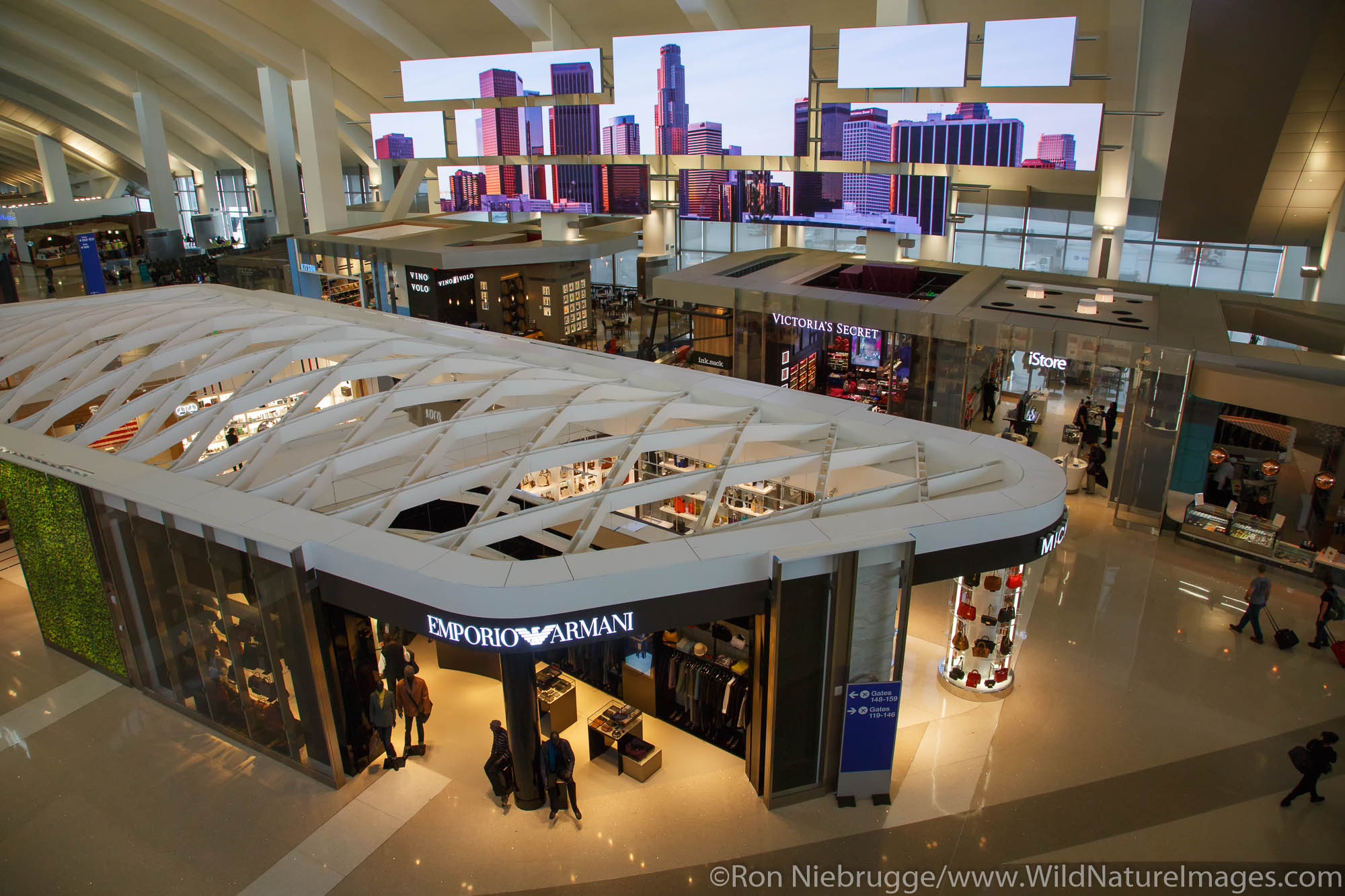 Tom Bradley International Terminal at LAX, Los Angeles, California.