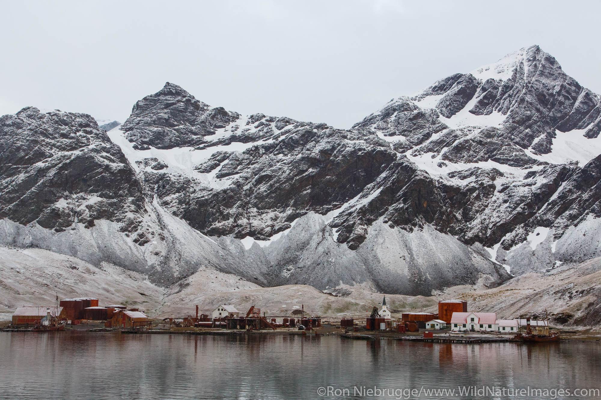 Historic whaling station of Grytviken, South Georgia, Antarctica.