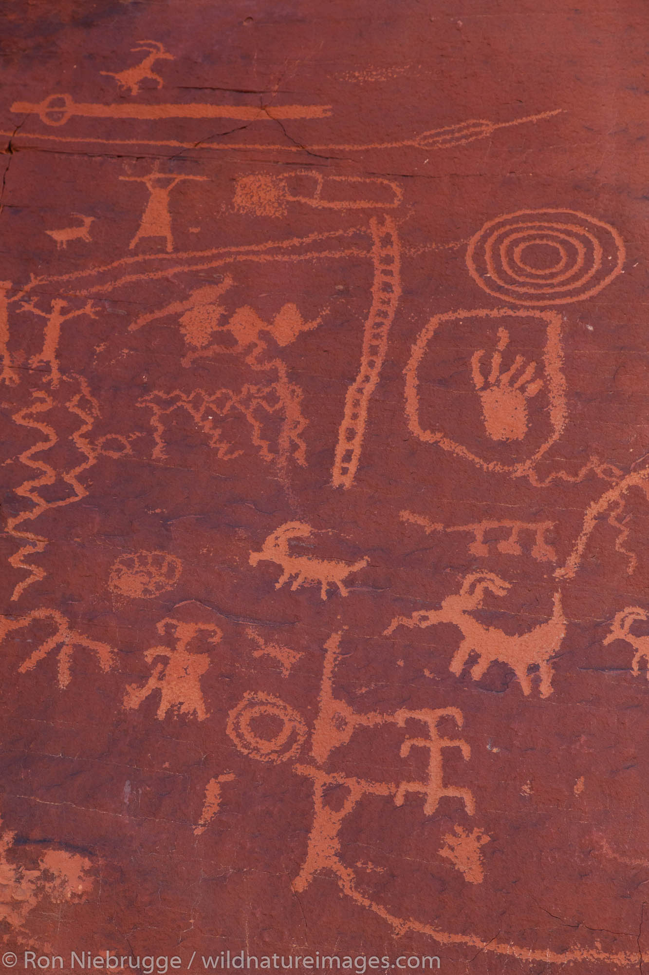 Rock art, Valley of Fire State Park, near Las Vegas, Nevada.