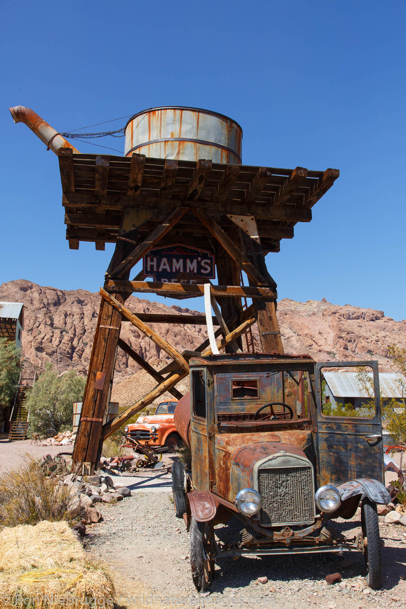 Techatticup ghost town and gold mine, Las Vegas, Nevada.
