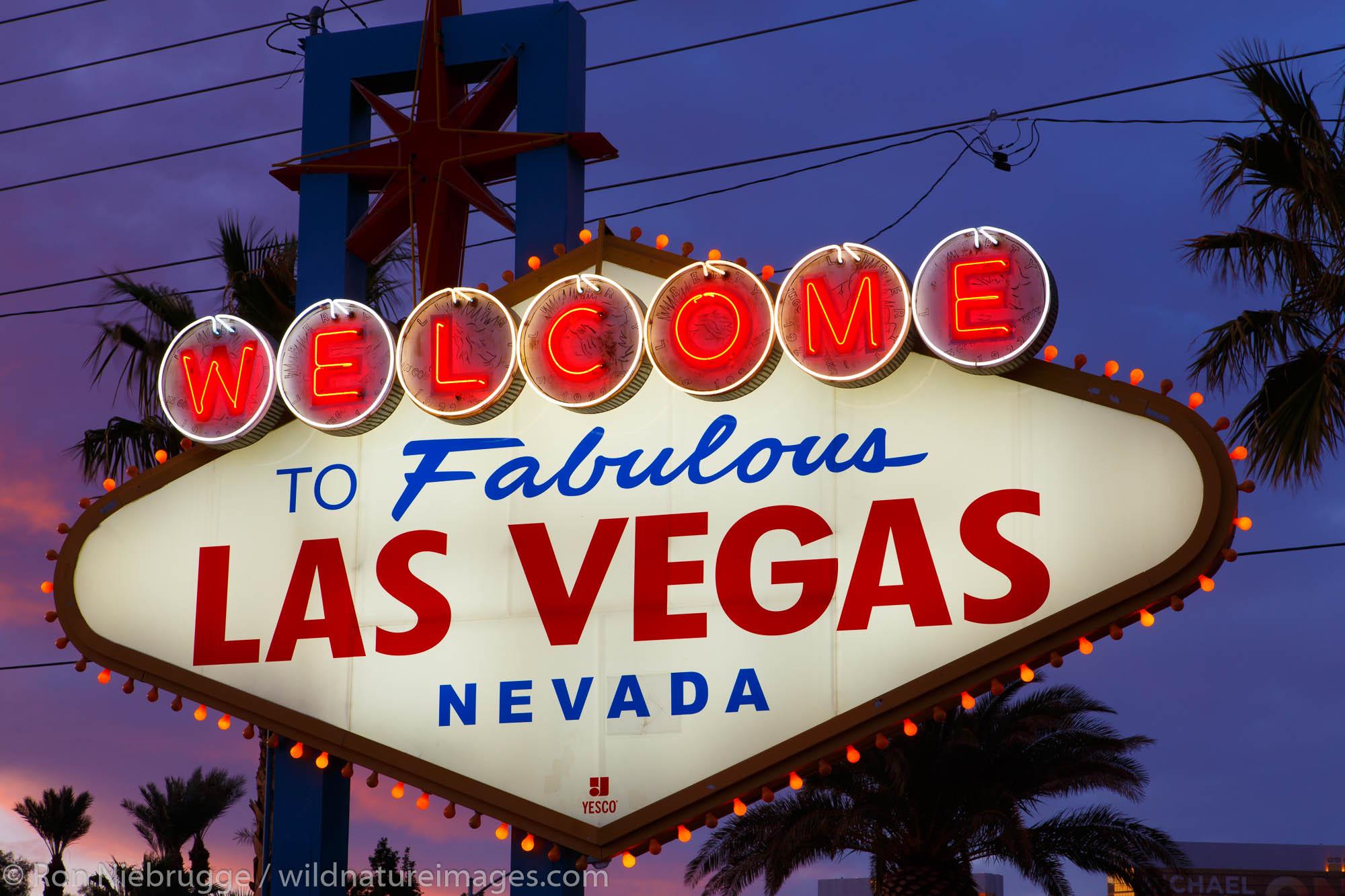 Welcome to Las Vegas sign, Las Vegas, Nevada.