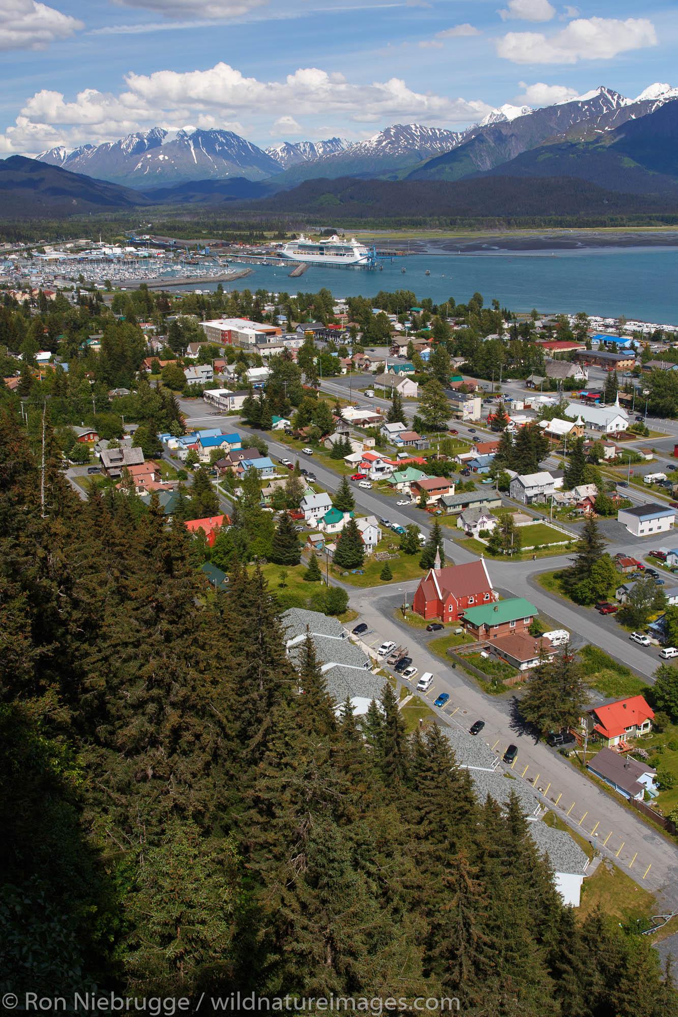 Resurrection Bay and Seward, Alaska.