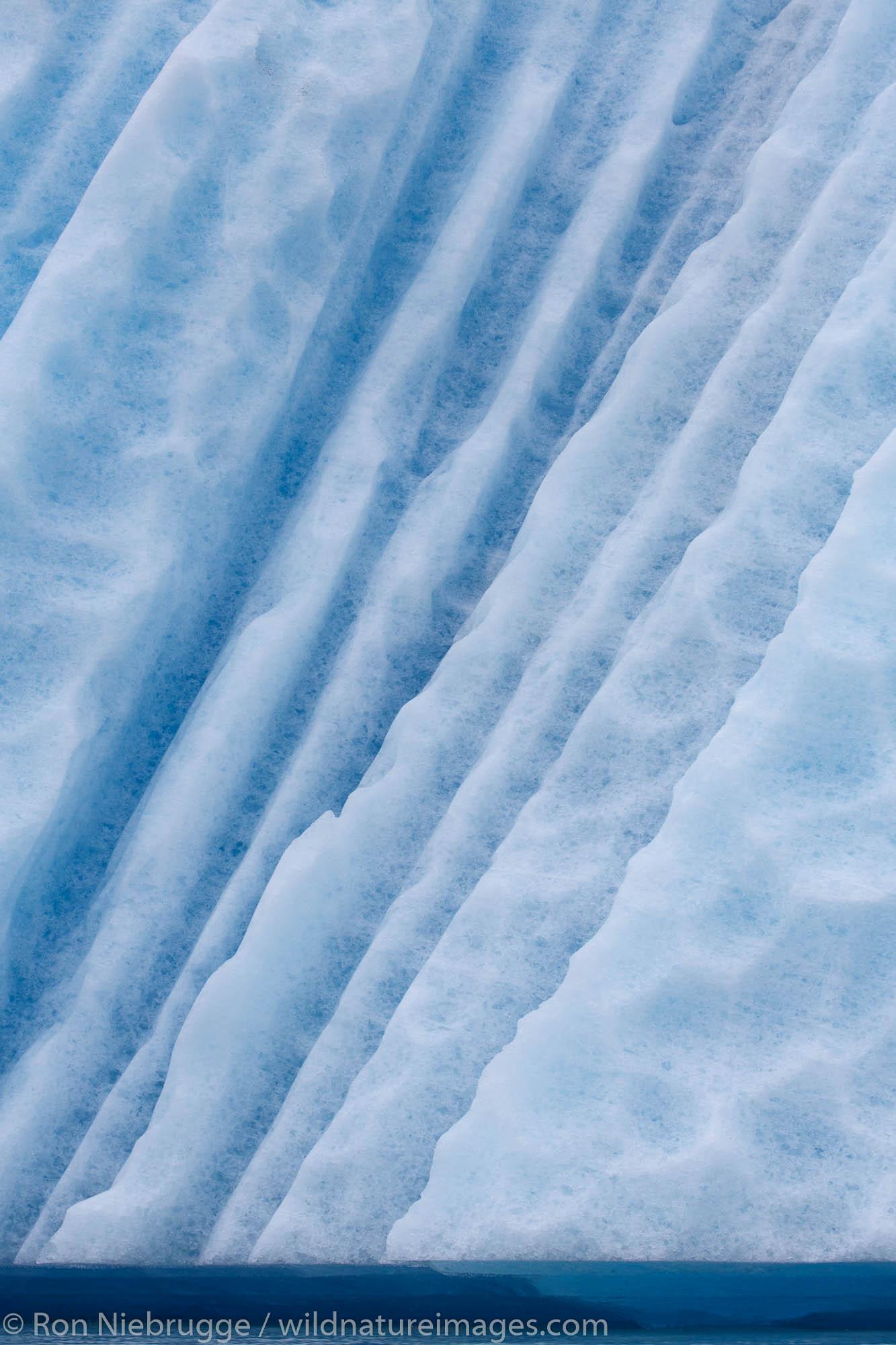 Icebergs in Bear Glacier Lagoon, Kenai Fjords National Park, near Seward, Alaska