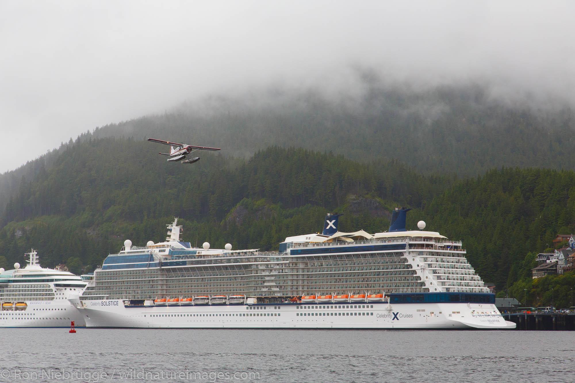 Cruiseships, Ketchikan, Alaska.