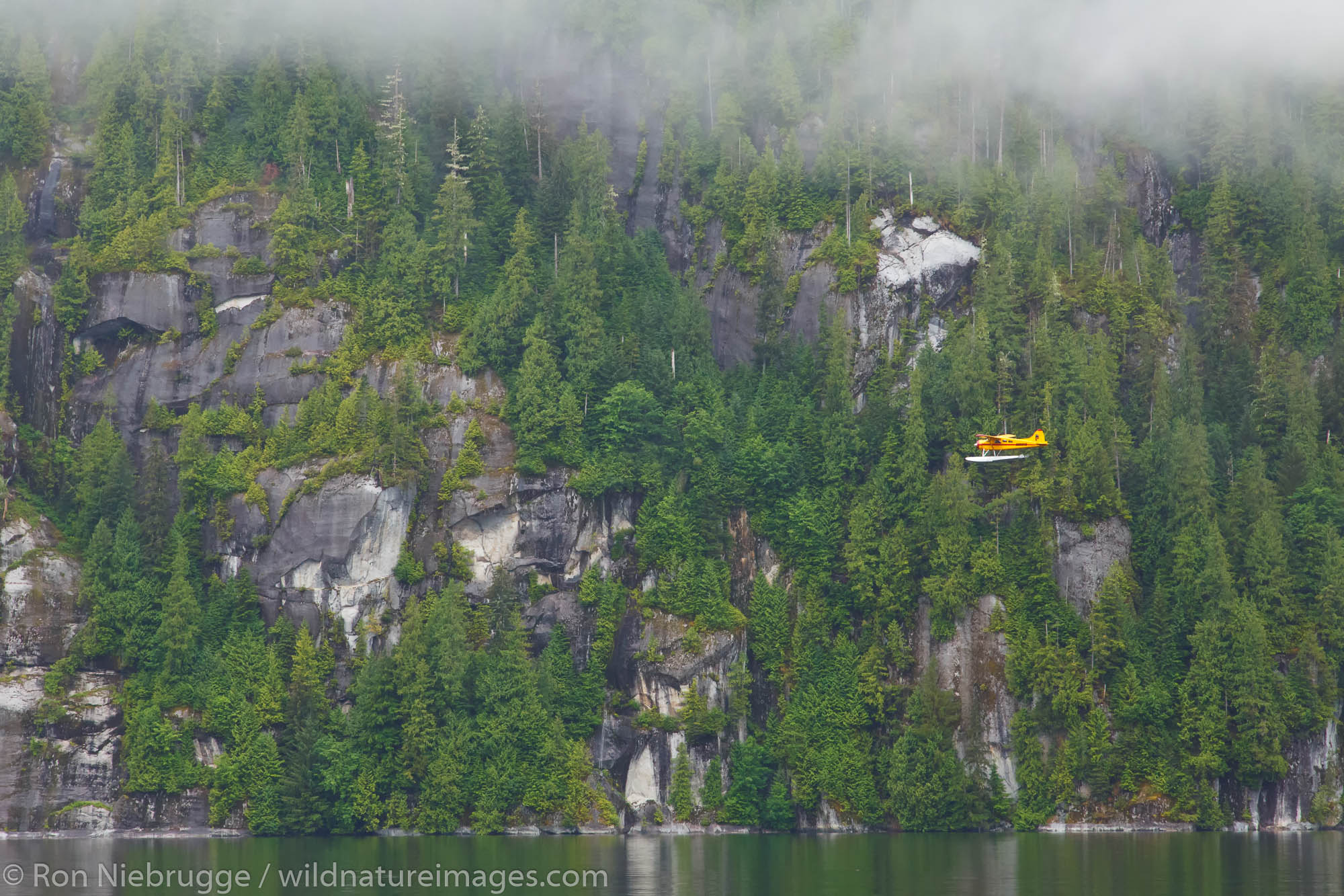 Airplane in Misty Fiords National Monument, Ketchikan, Alaska.