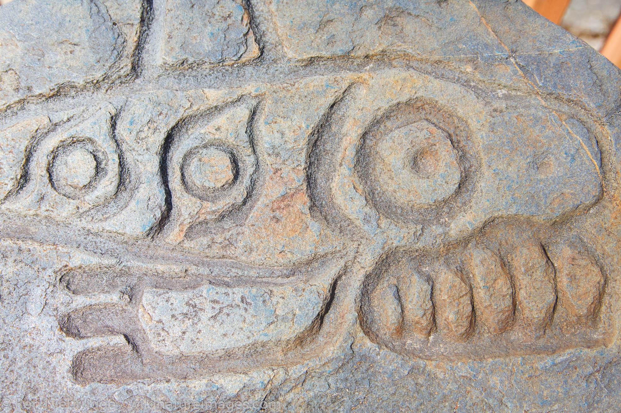 Petroglyph Beach State Historical Site, Wrangell, Alaska.