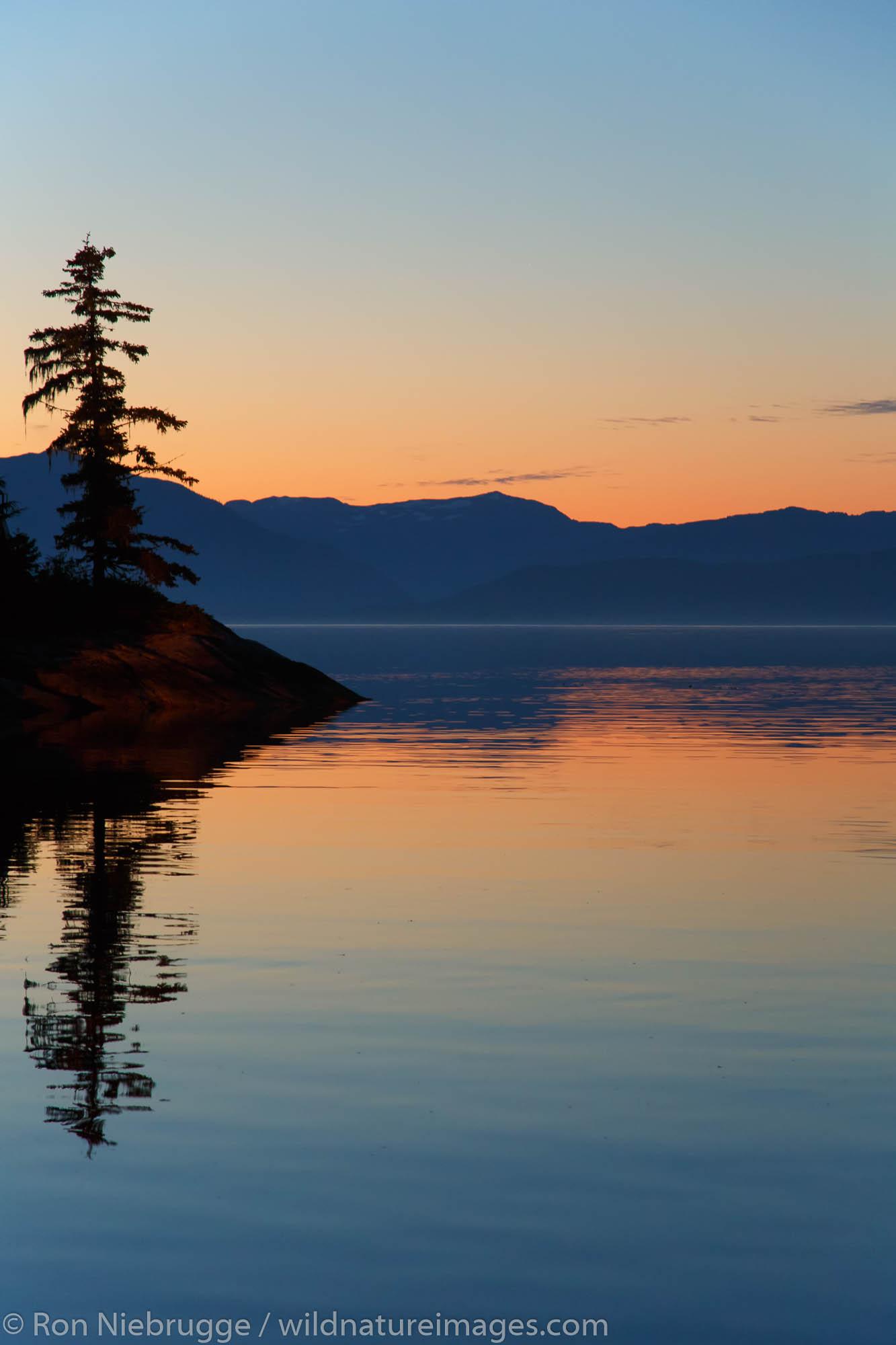 Sunrise Frederick Sound, Tongass National Forest, Alaska.