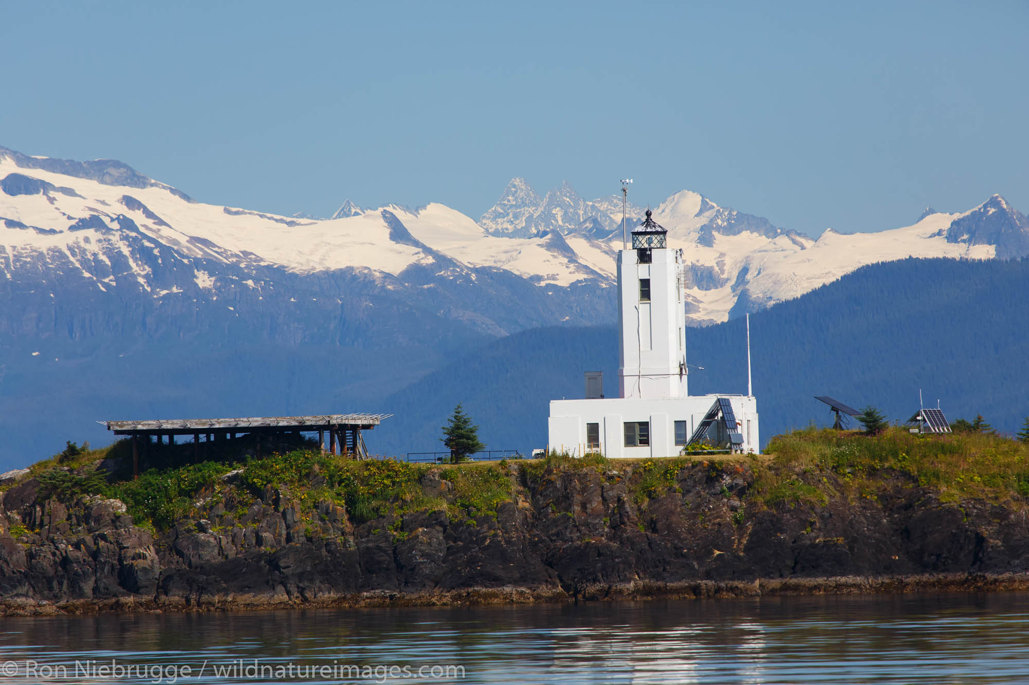 Five Finger Lighthouse, Frederick Sound, Tongass National Forest, Alaska.