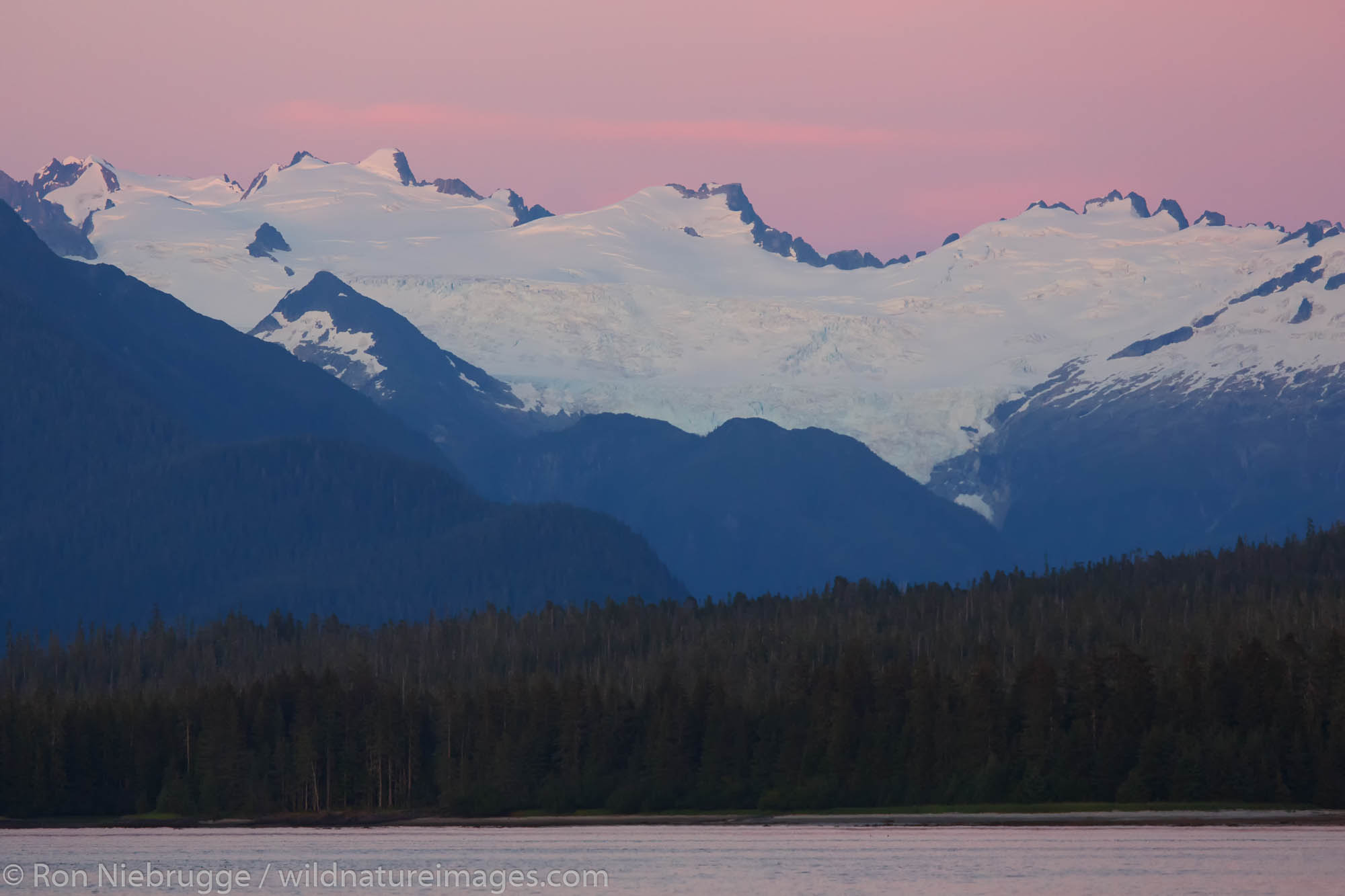 Sunset on Frederick Sound, Tongass National Forest, Alaska.