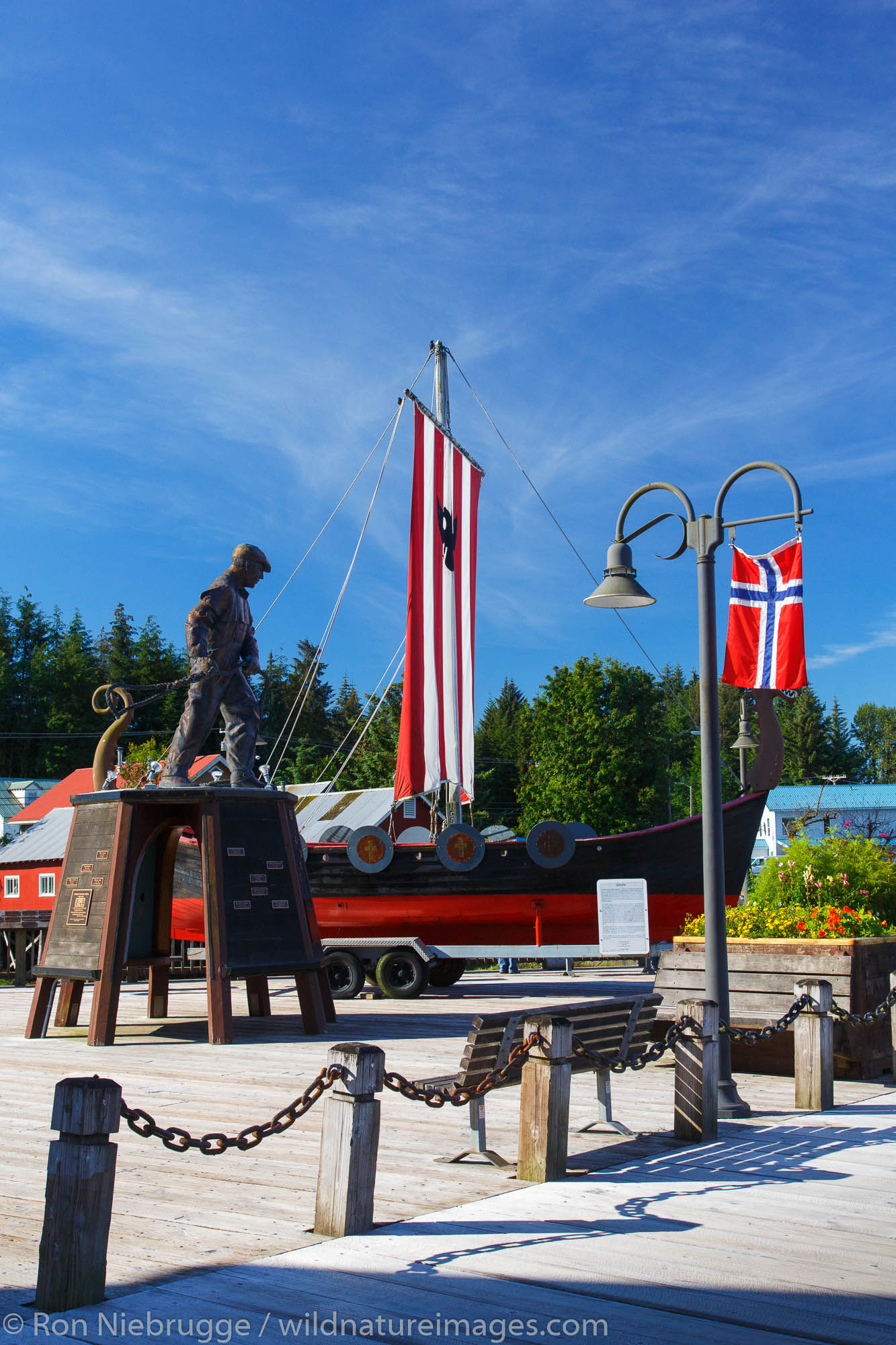 Fisherman's Memorial Park, Petersburg, Alaska.