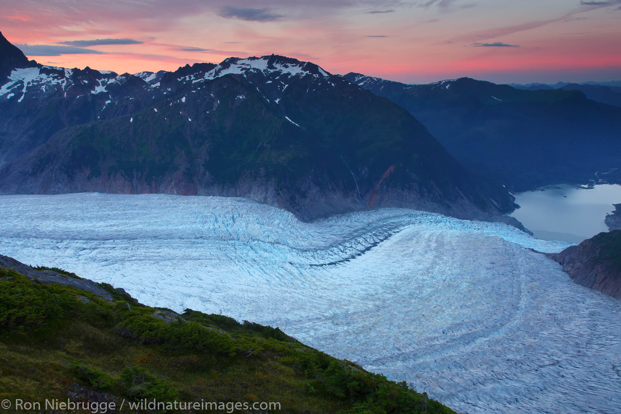 From Mount Stroller White above the Mendenhall Glacier, Tongass National Forest, Alaska.