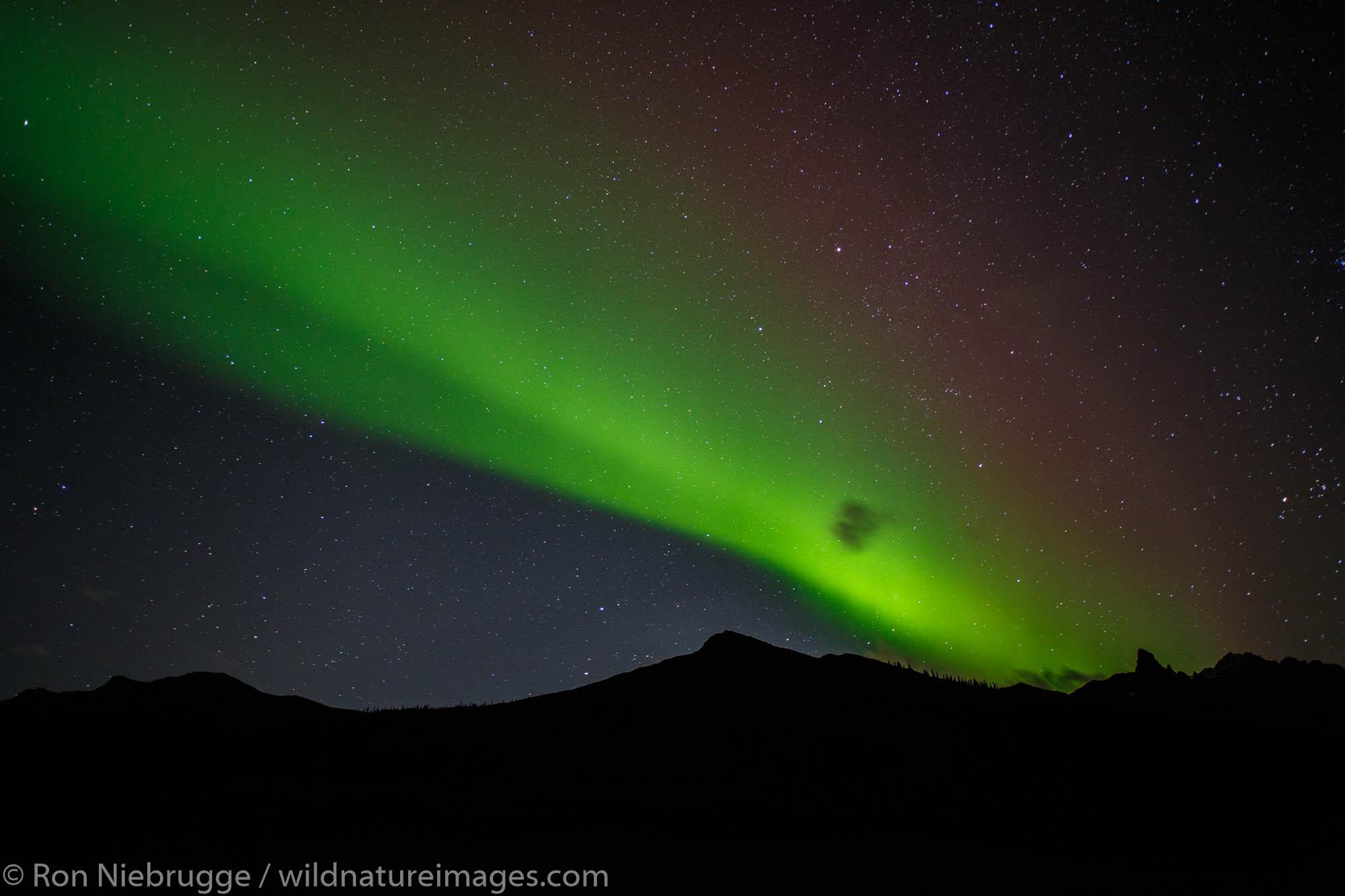 Aurora borealis in the Brooks Range, Dalton Highway, Alaska.