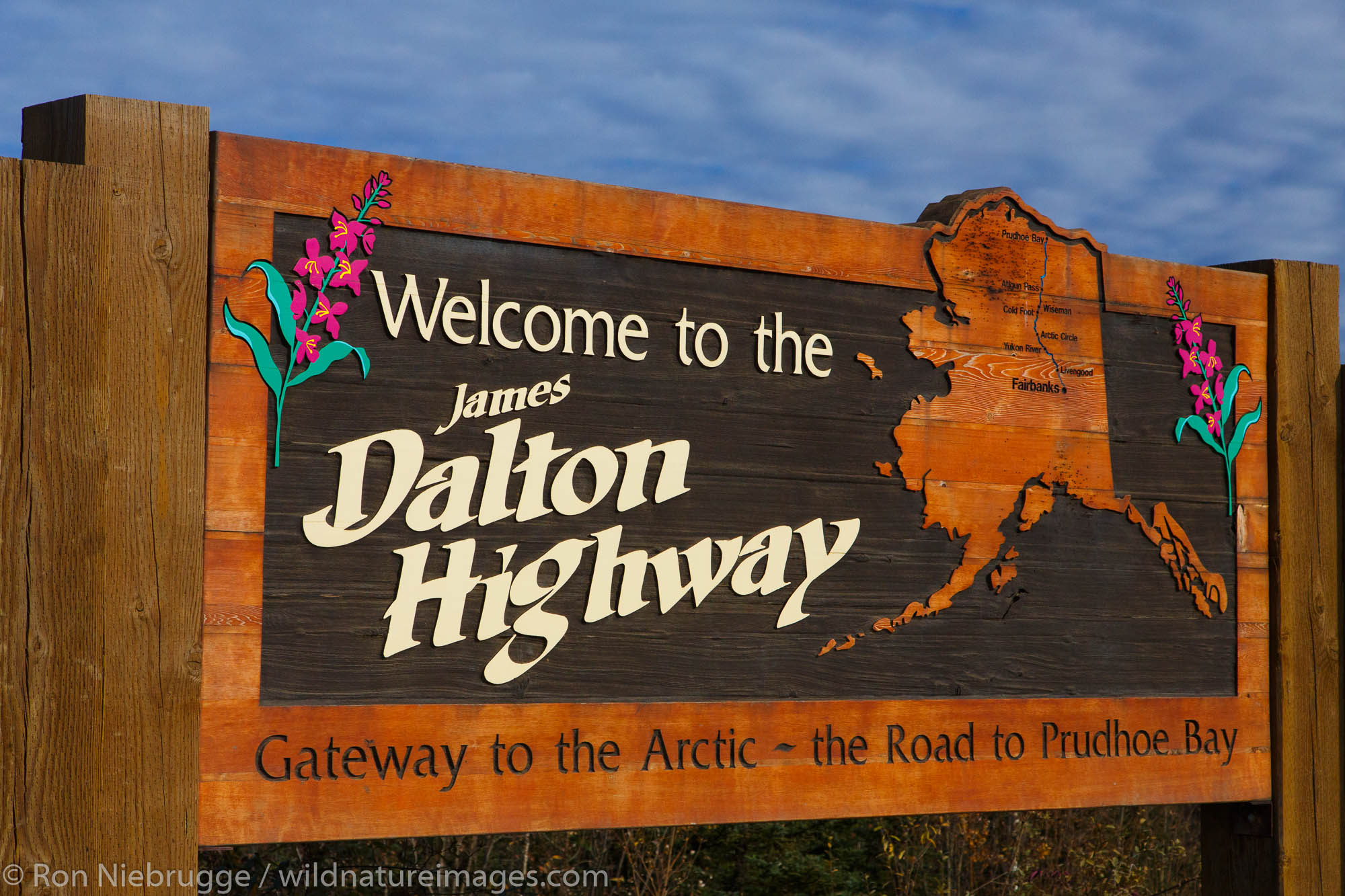 Dalton Highway Sign, Alaska.