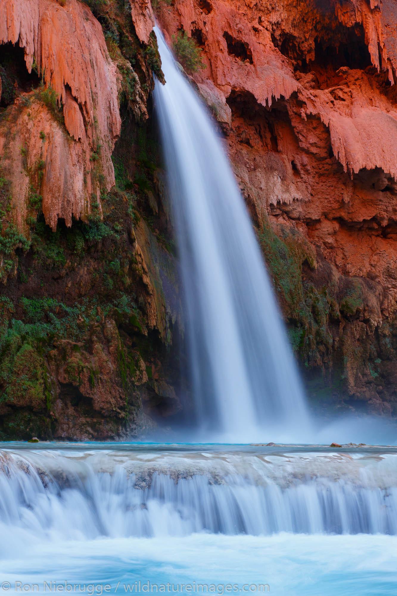 Havasu Falls, Havasupai Indian Reservation, Grand Canyon, Arizona.