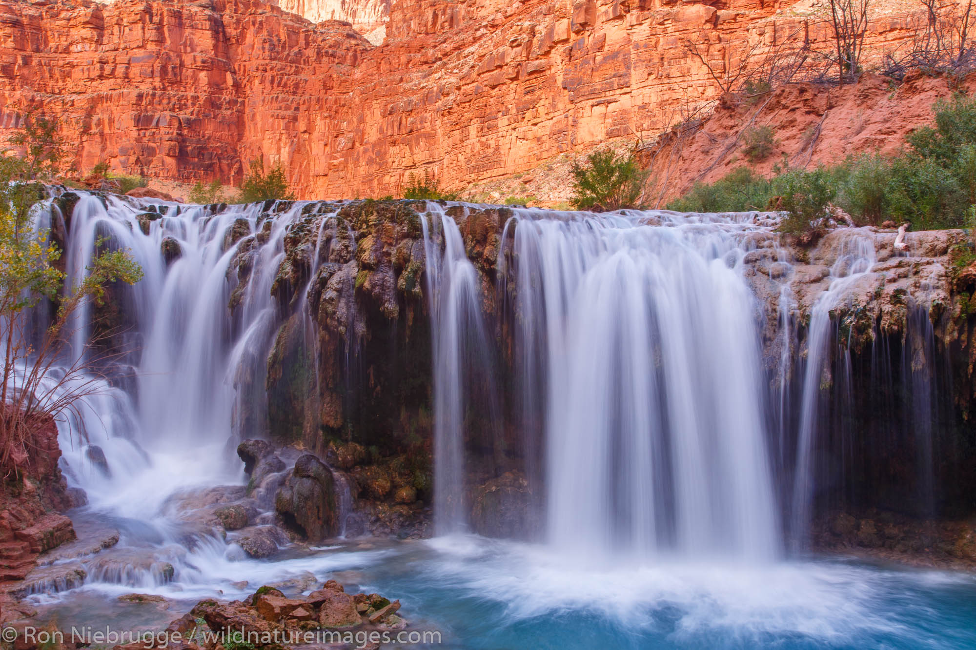 Navajo Falls, Havasupai Indian Reservation, Grand Canyon, Arizona.