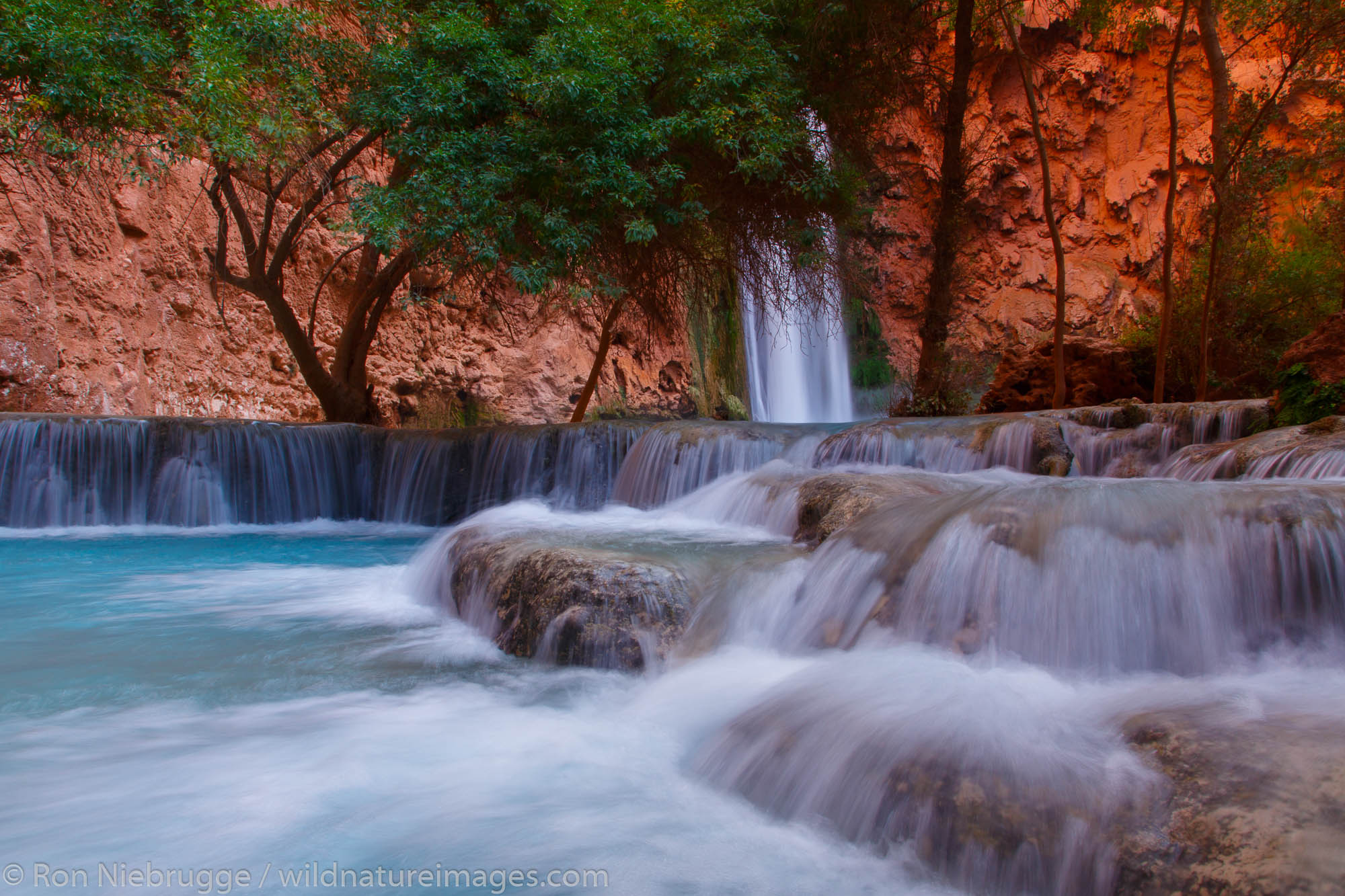 Mooney Falls, Havasupai Indian Reservation, Grand Canyon, Arizona.