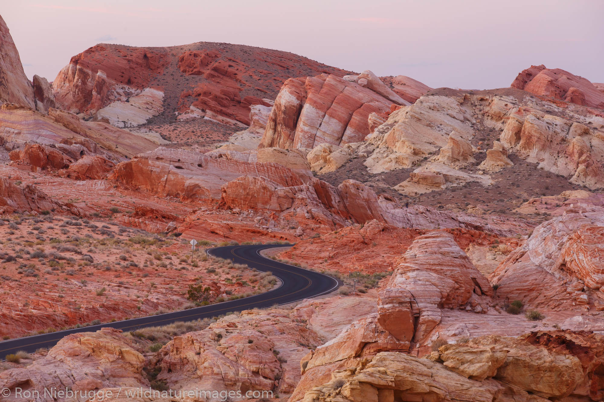 Road through Valley of Fire State Park, near Las Vegas, Nevada.