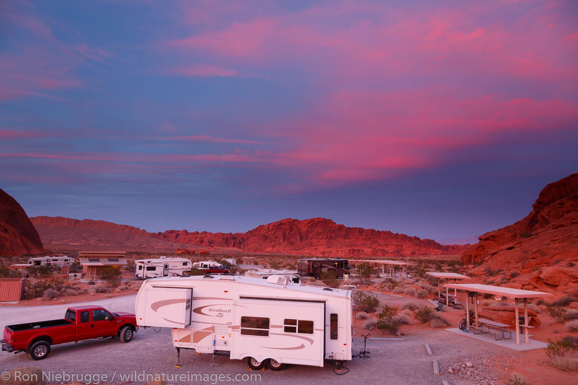 Atlatl Campground, Valley of Fire State Park, near Las Vegas, Nevada.