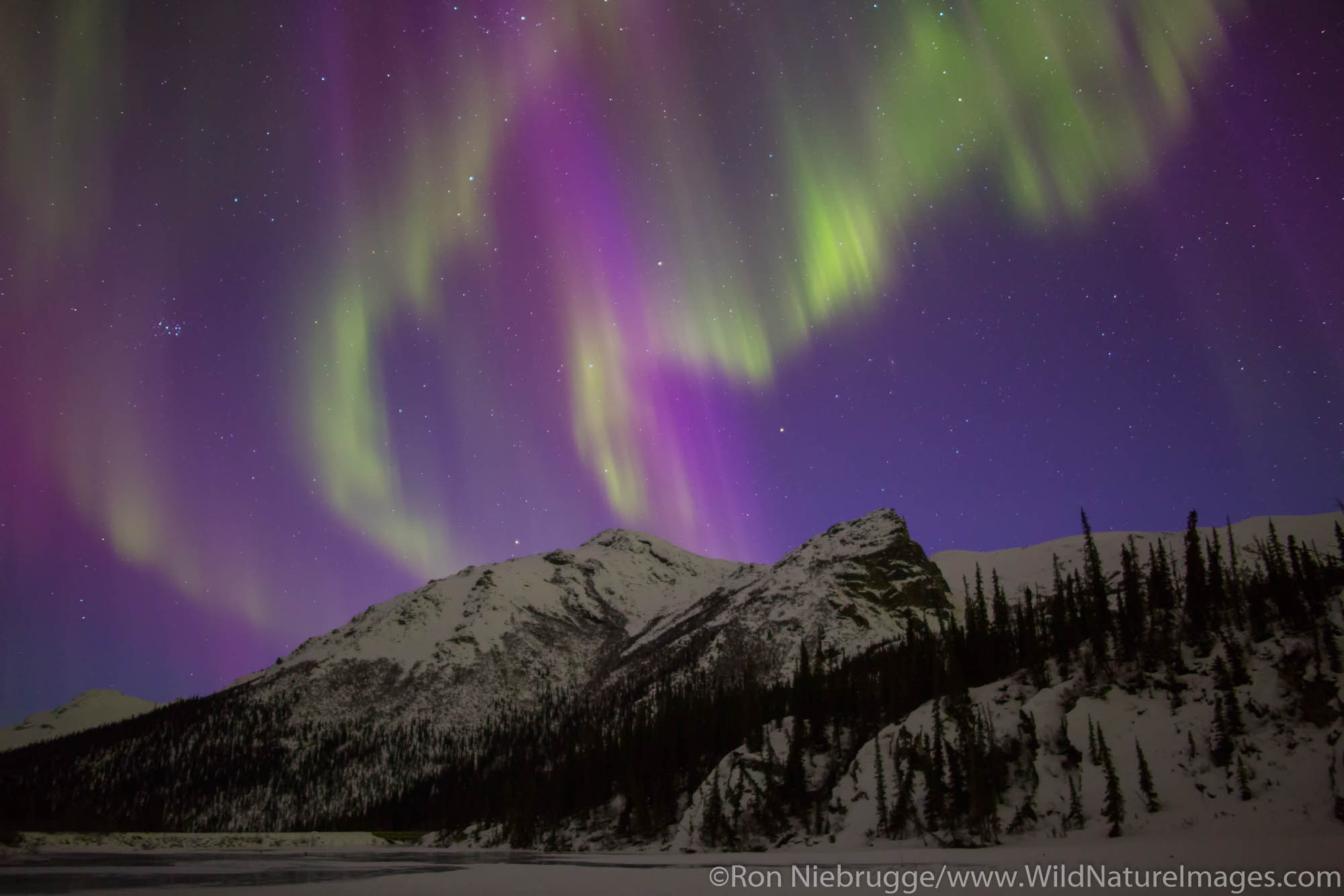 Aurora Borealis over the Brooks Range Alaska.