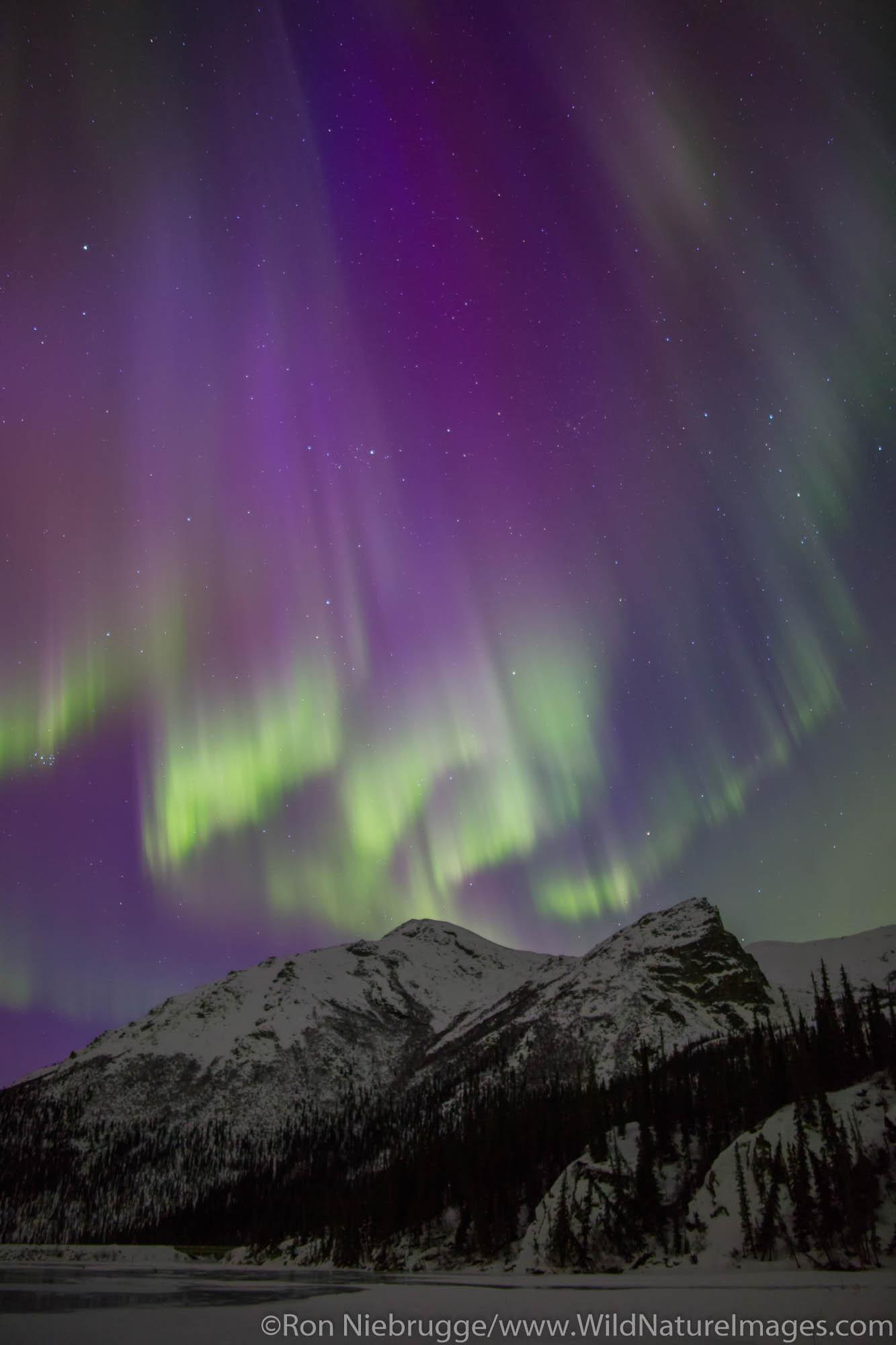 Northern Lights over the Brooks Range Alaska.