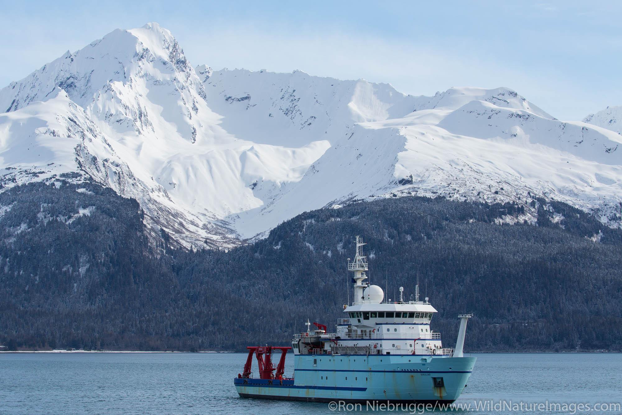 R/V Sikuliaq, Resurrection Bay, Seward, Alaska.