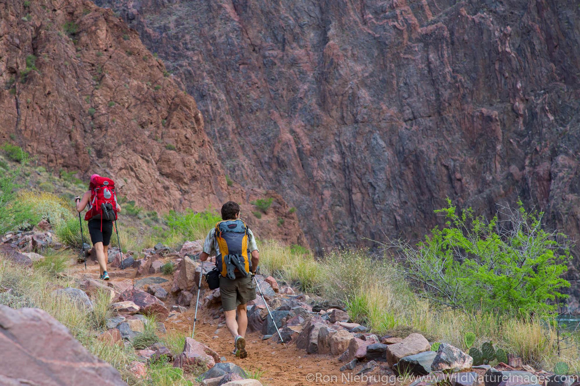 Bright Angel Trail, Grand Canyon National Park, Arizona.