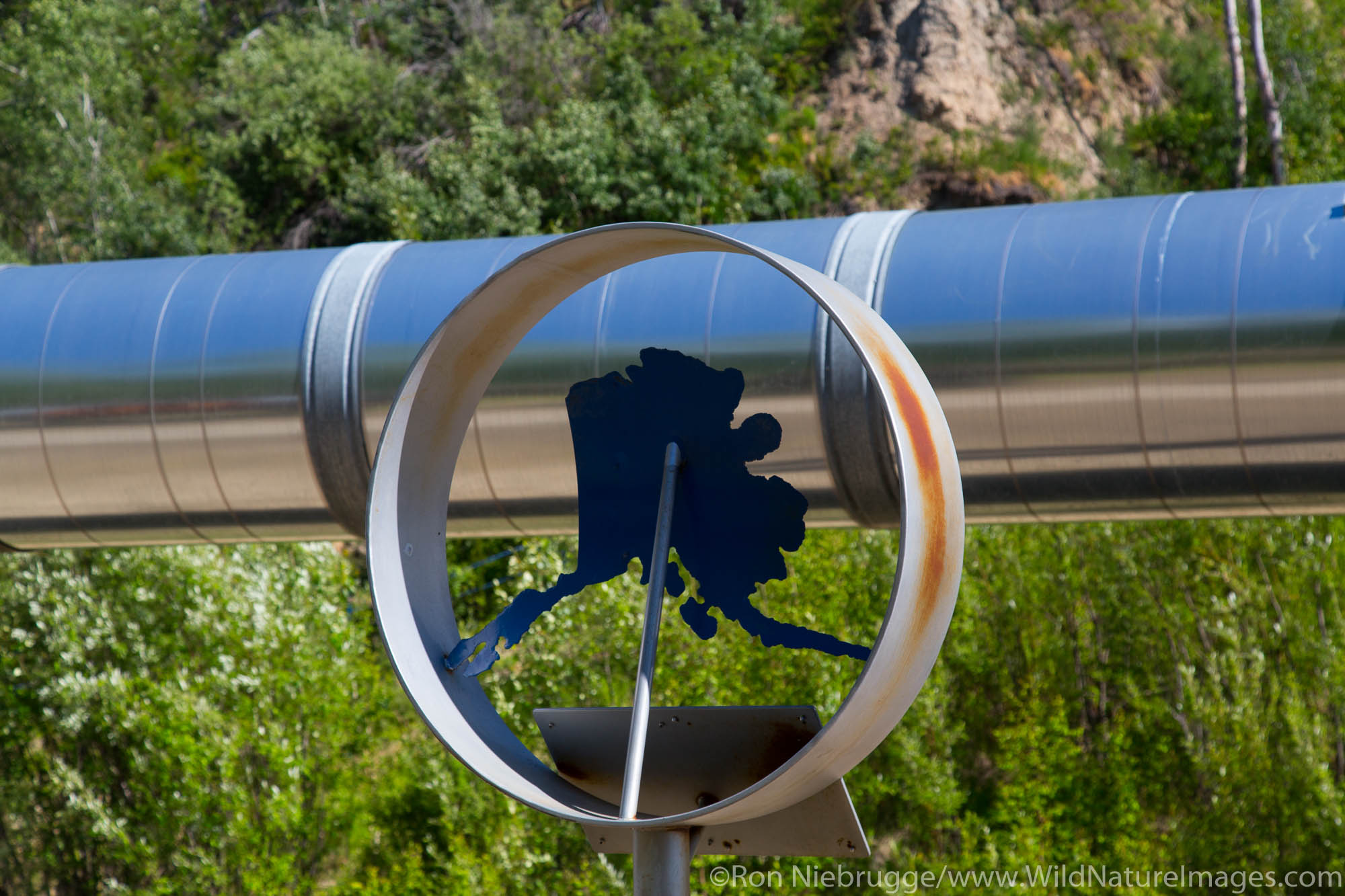 Trans Alaska Pipeline, Fairbanks, Alaska.