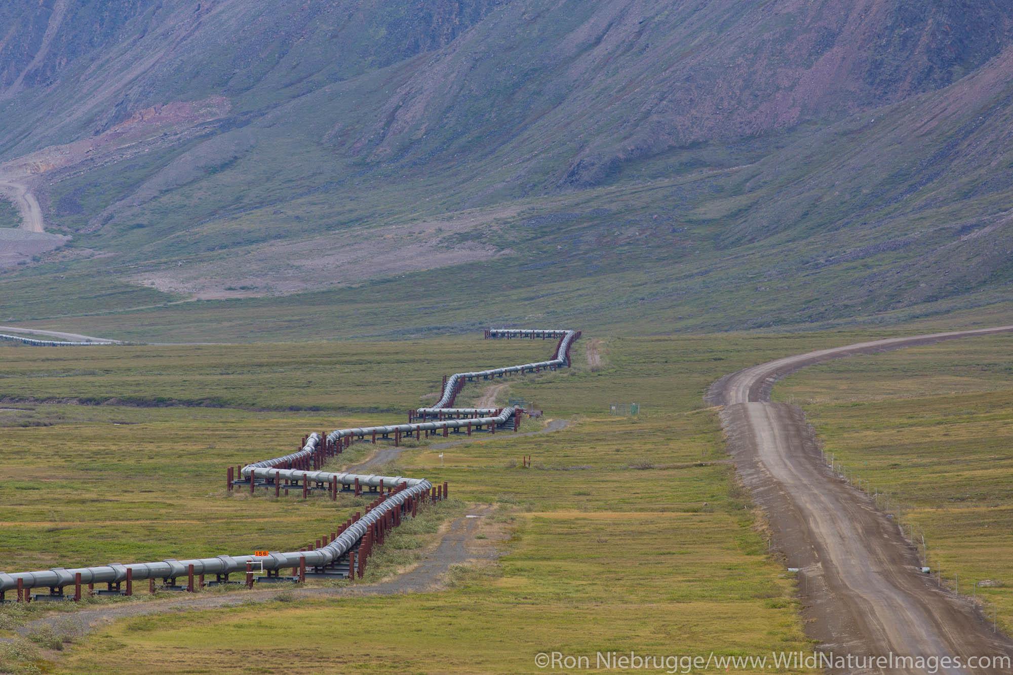 Trans Alaska Pipeline in the Brooks Range, Alaska.