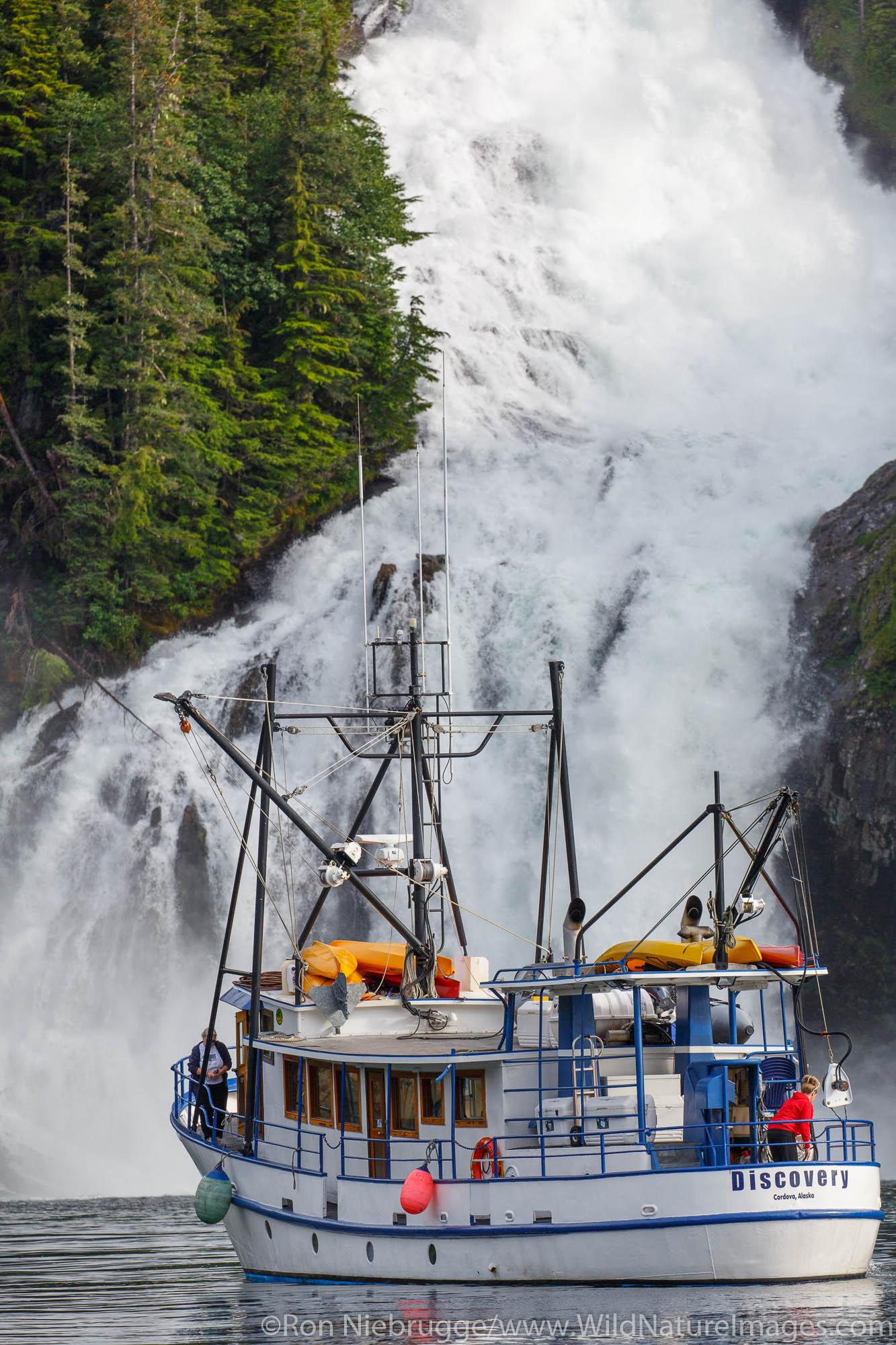 Cascade Falls, Prince William Sound, Chugach National Forest, Alaska.