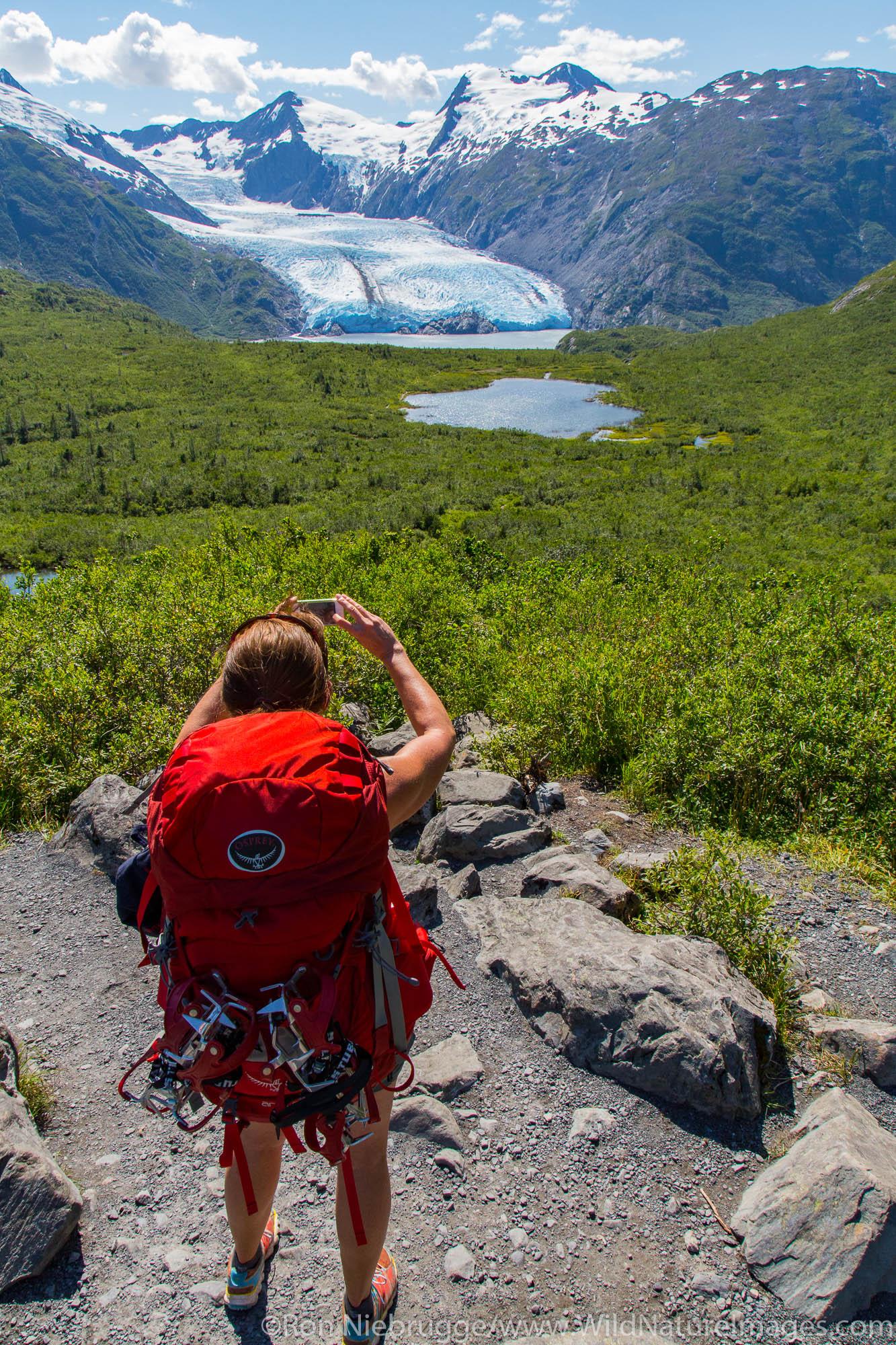 Backpacking to Portage Glacier, Chugach National Forest, Alaska.