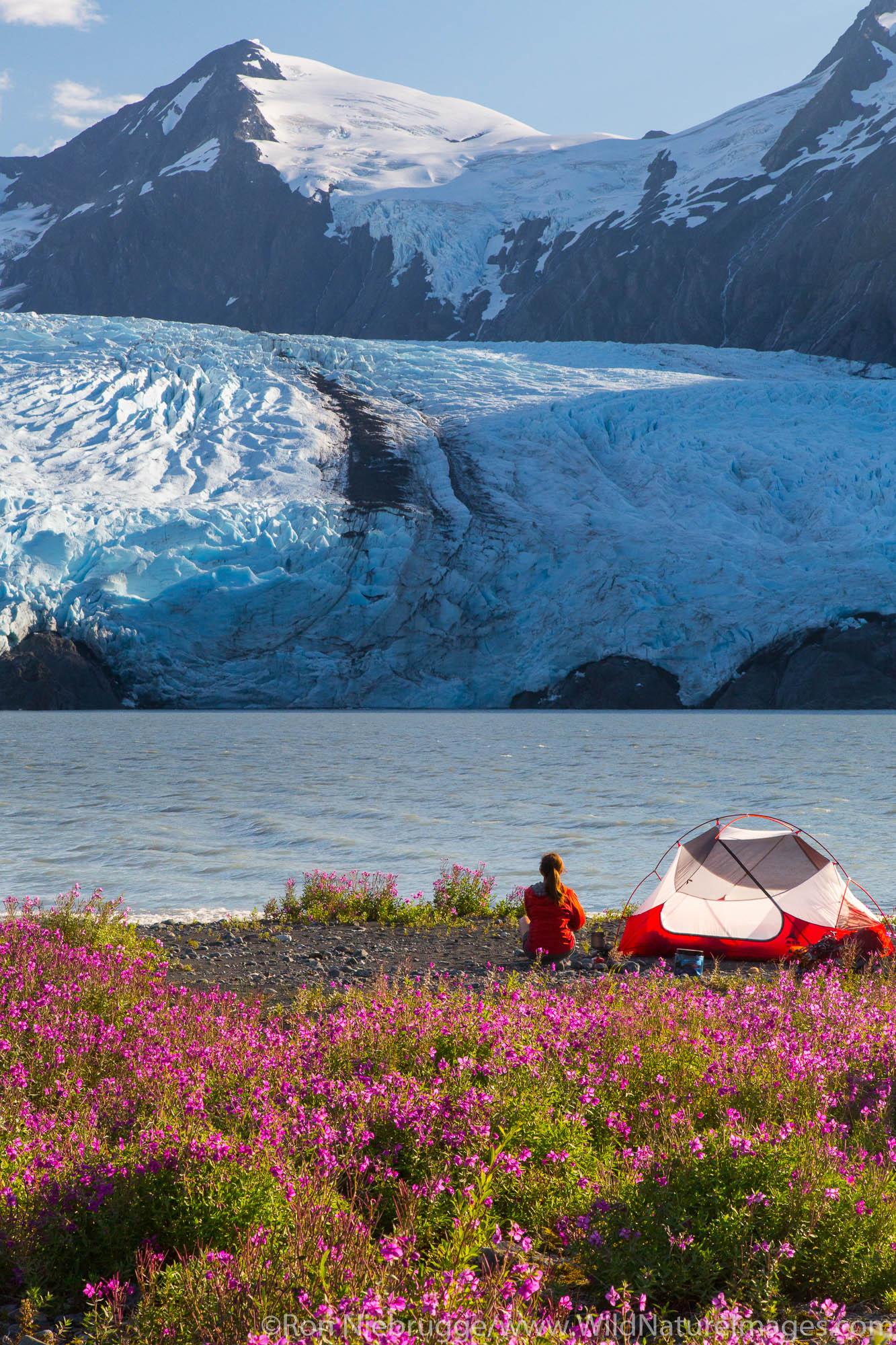 Camping near Portage Glacier, Chugach National Forest, Alaska.