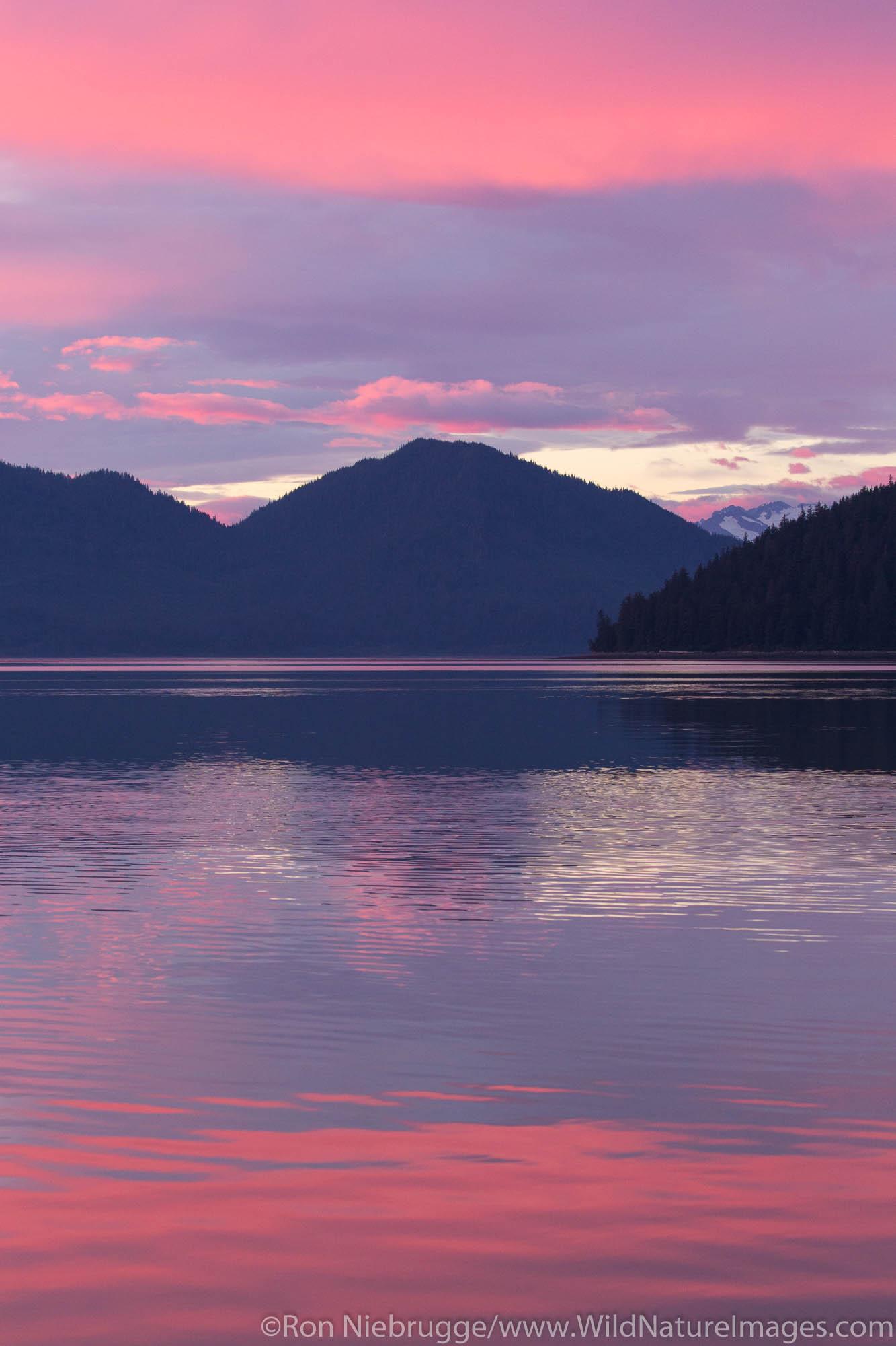 Sunset, Tongass National Forest, Alaska.
