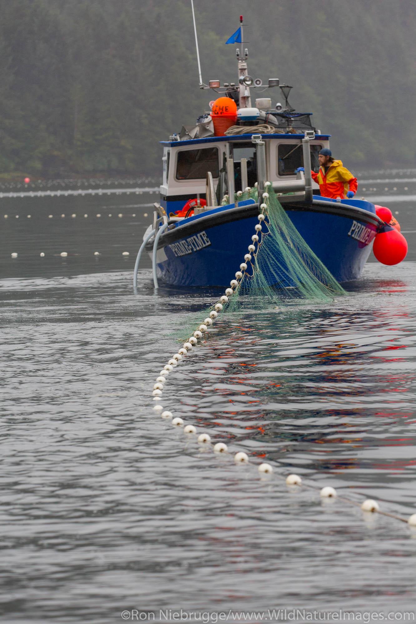 Bow-picker fising boat at Neets Bay, Tongass National Forest, Alaska.