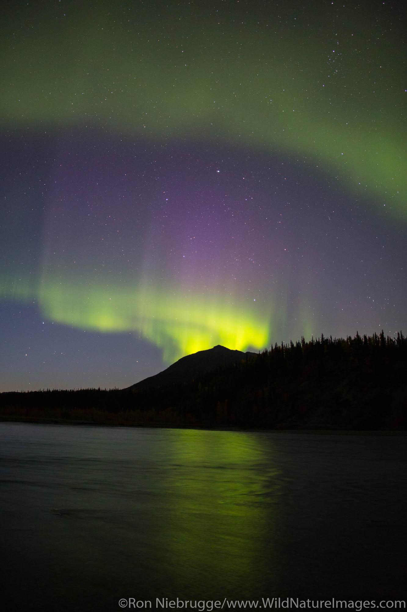 Northern Lights in the Brooks Range from the Dalton Highway, Alaska.