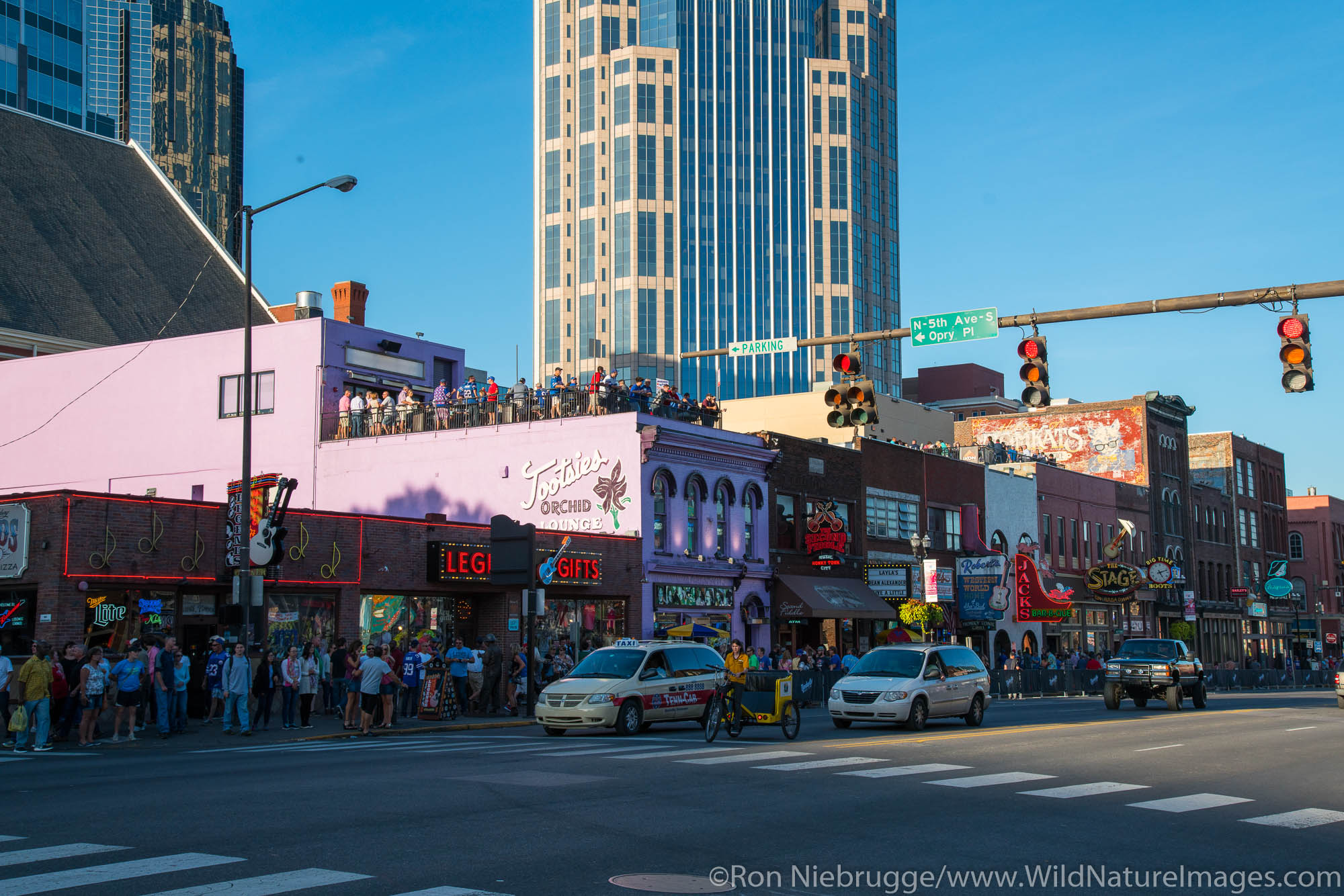 Honky-tonks in Nashville,  Tennessee.