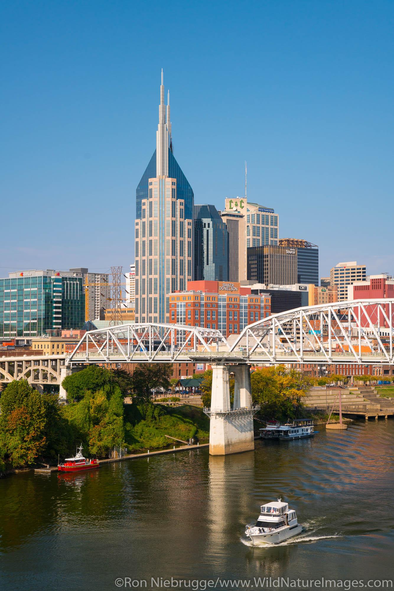 Nashville skyline.  Nashville, Tennessee.