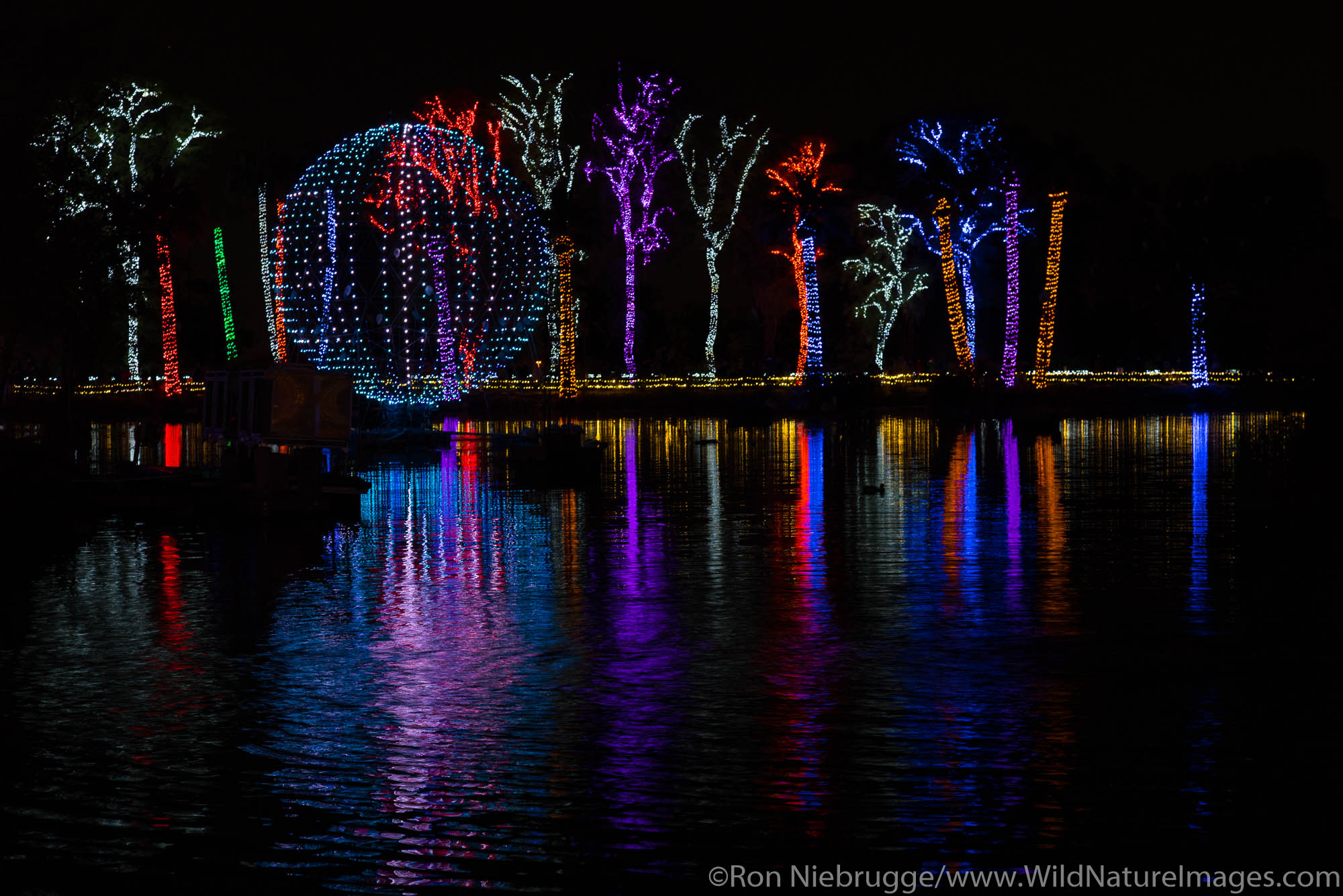 Phoenix Zoo Holiday Light show,  Phoenix, Arizona.