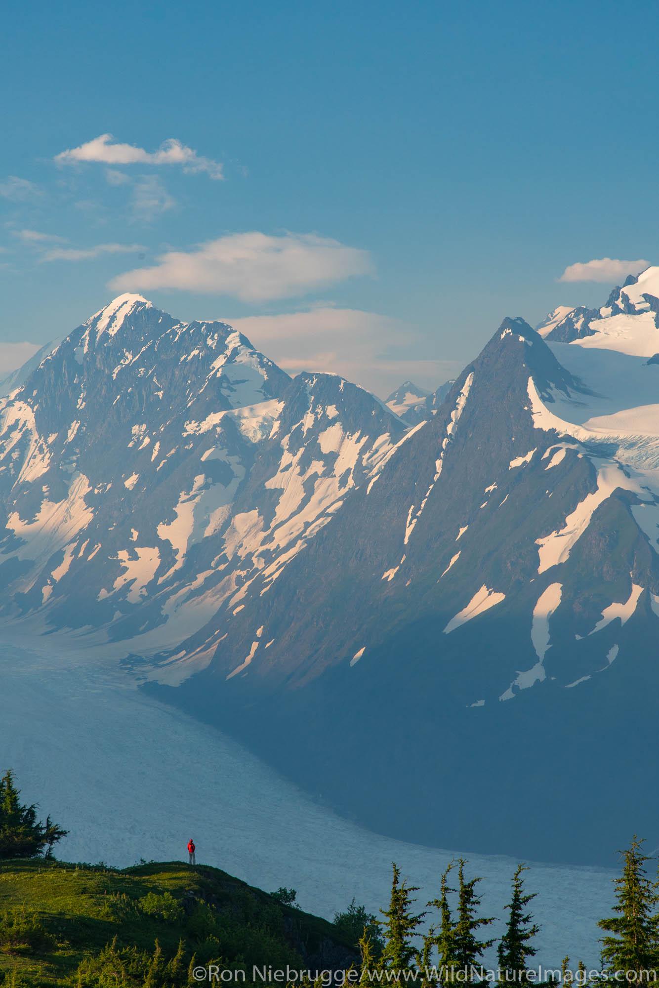 Backpacking trip to the Spencer Glacier Bench, Chugach National Forest, Alaska.