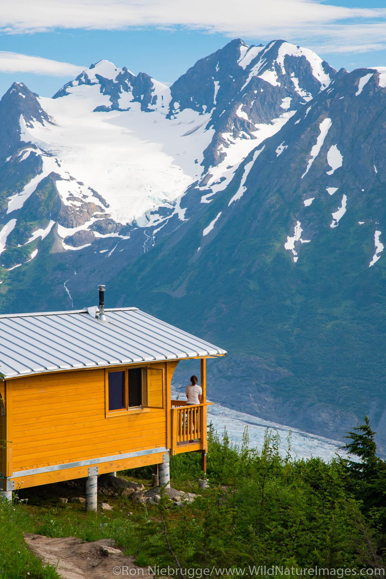 Backpacking trip to the Spencer Glacier Bench Forest Service Cabin, Chugach National Forest, Alaska.