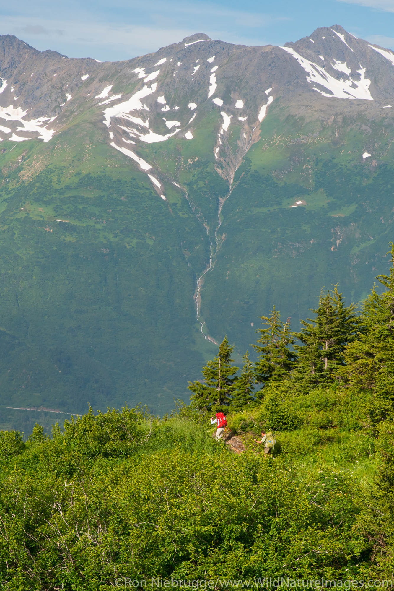 Backpacking to the Spencer Glacier Bench Cabin, Chugach National Forest, Alaska.